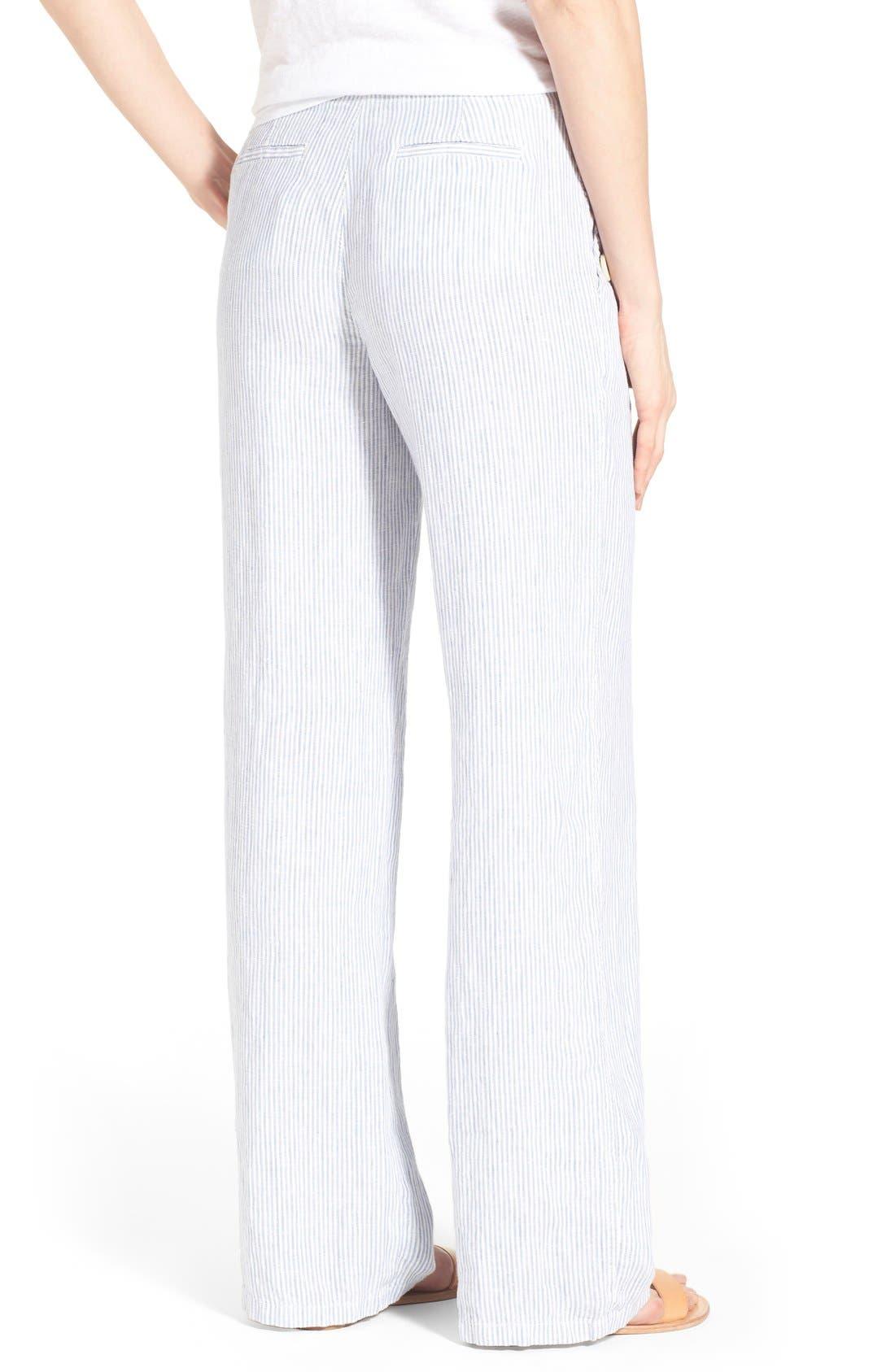 Alternate Image 2  - Caslon® Linen Sailor Pants (Regular & Petite)