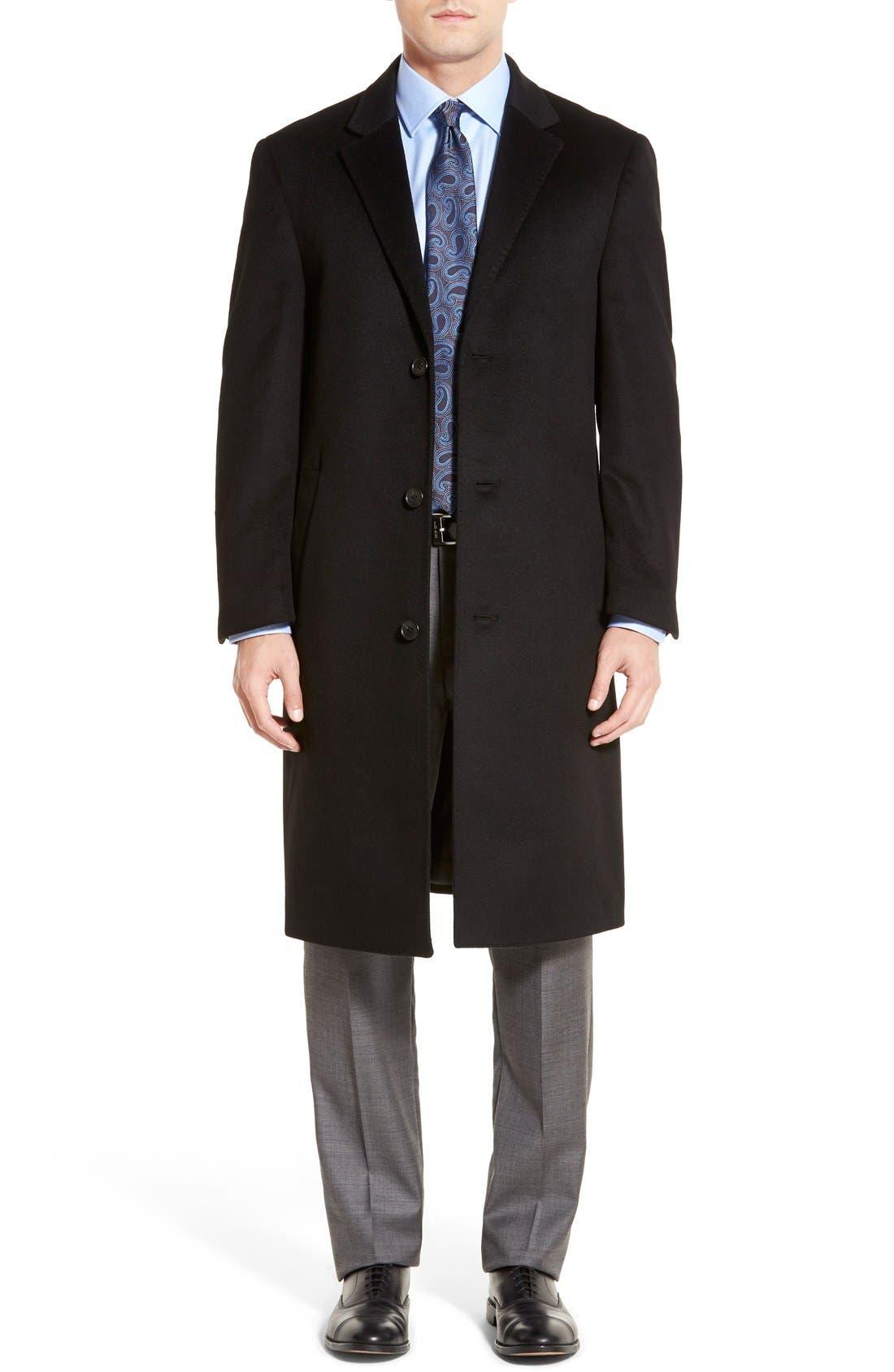 Main Image - Hart Schaffner Marx Sheffield Classic Fit Wool & Cashmere Overcoat