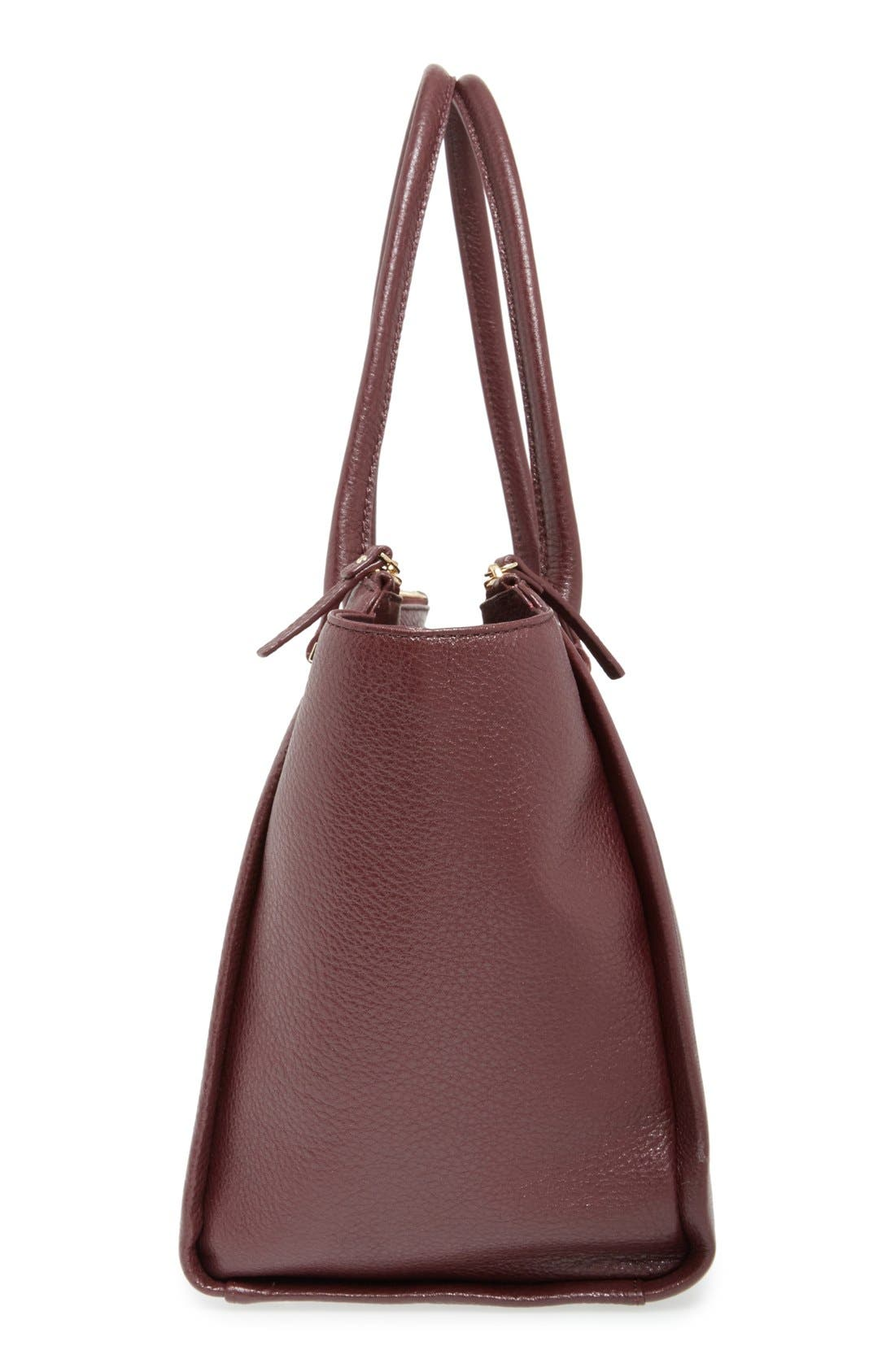 'emerson place - smooth holland' leather tote,                             Alternate thumbnail 5, color,                             Mulled Wine