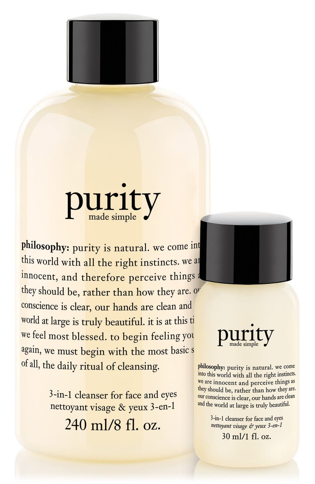 philosophy 'purity made simple' one-step facial cleanser duo ($27 Value) (Special Purchase)