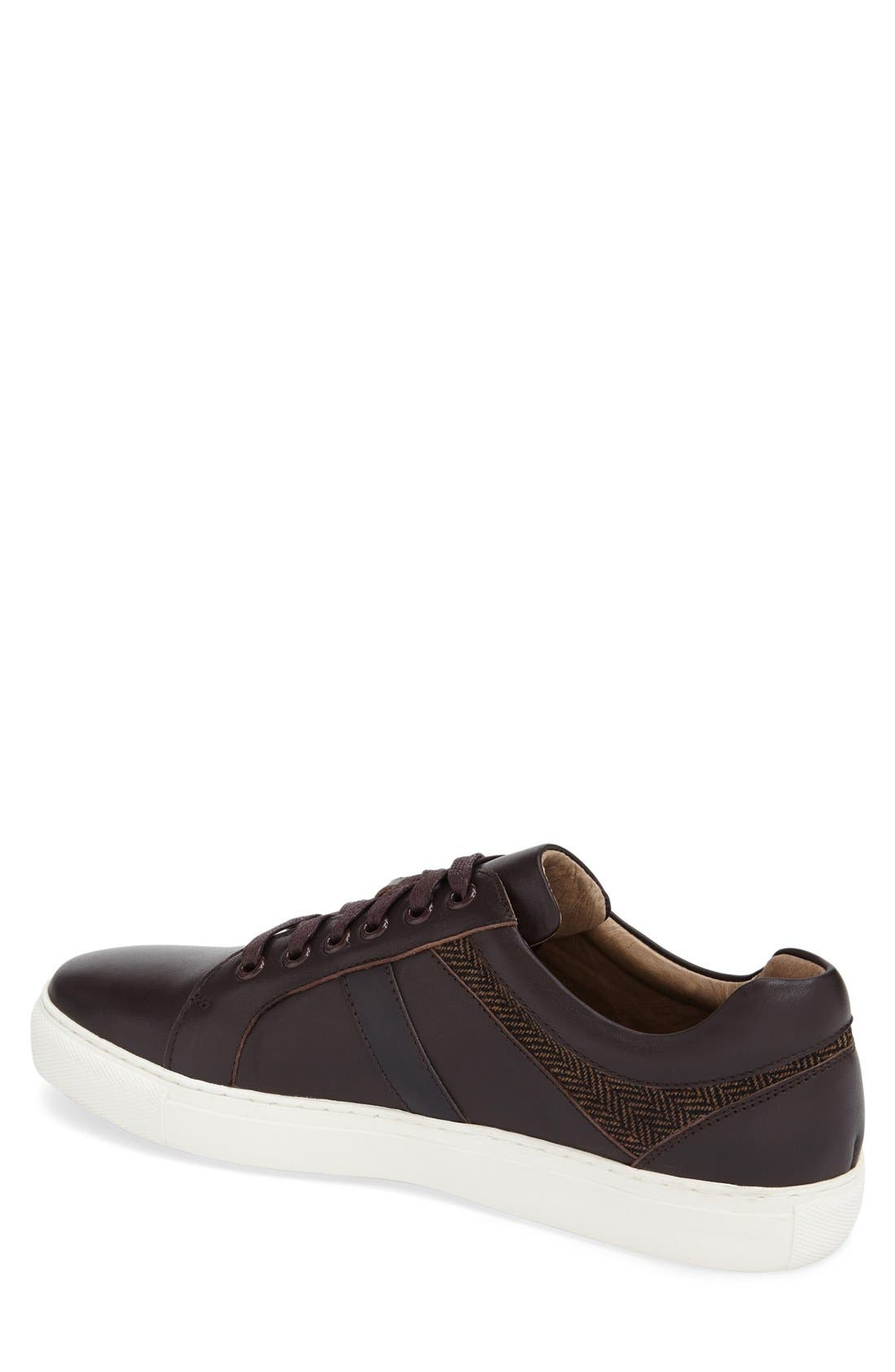 'Mixer' Sneaker,                             Alternate thumbnail 2, color,                             Brown Leather