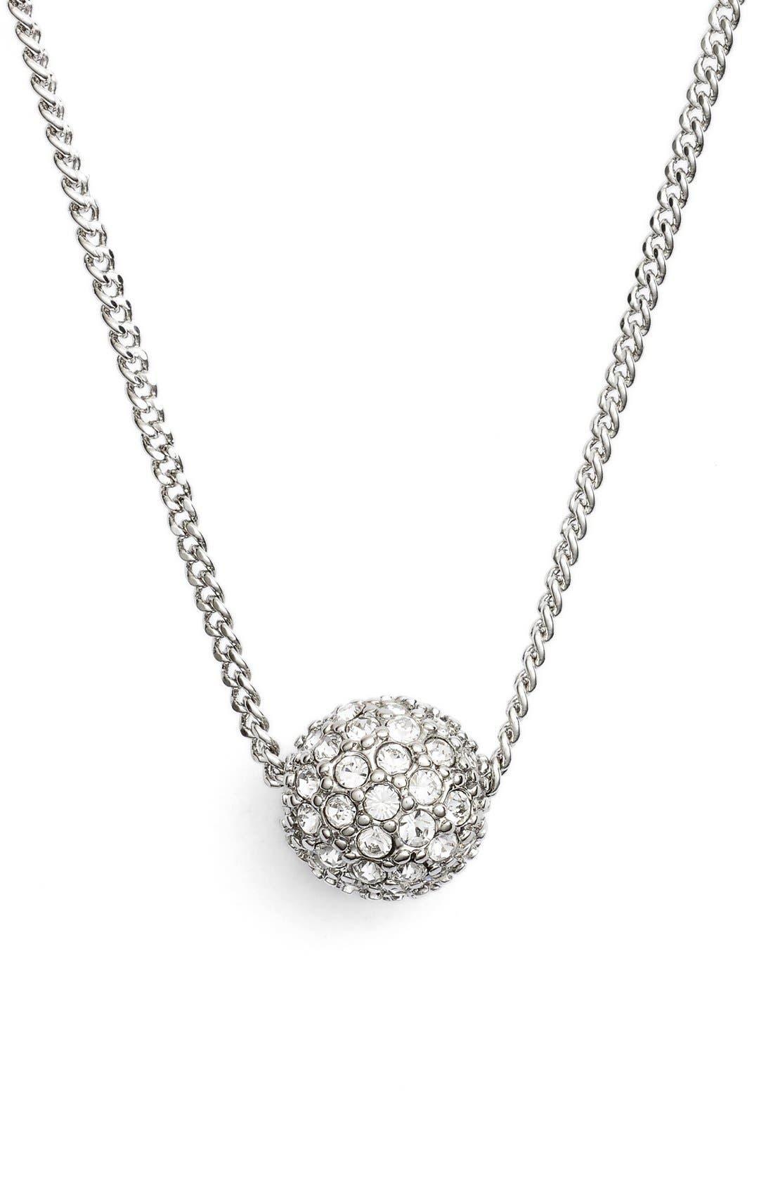 'Fireball' Pendant Necklace,                             Main thumbnail 1, color,                             Silver