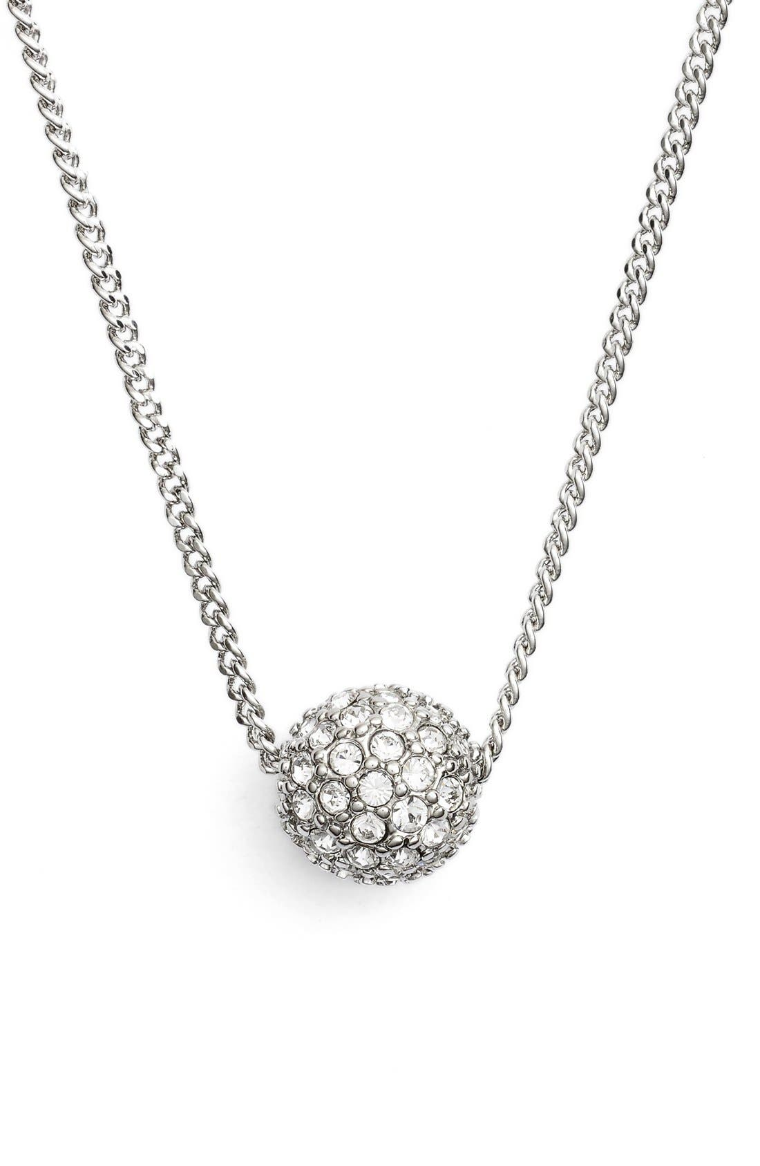 'Fireball' Pendant Necklace,                         Main,                         color, Silver