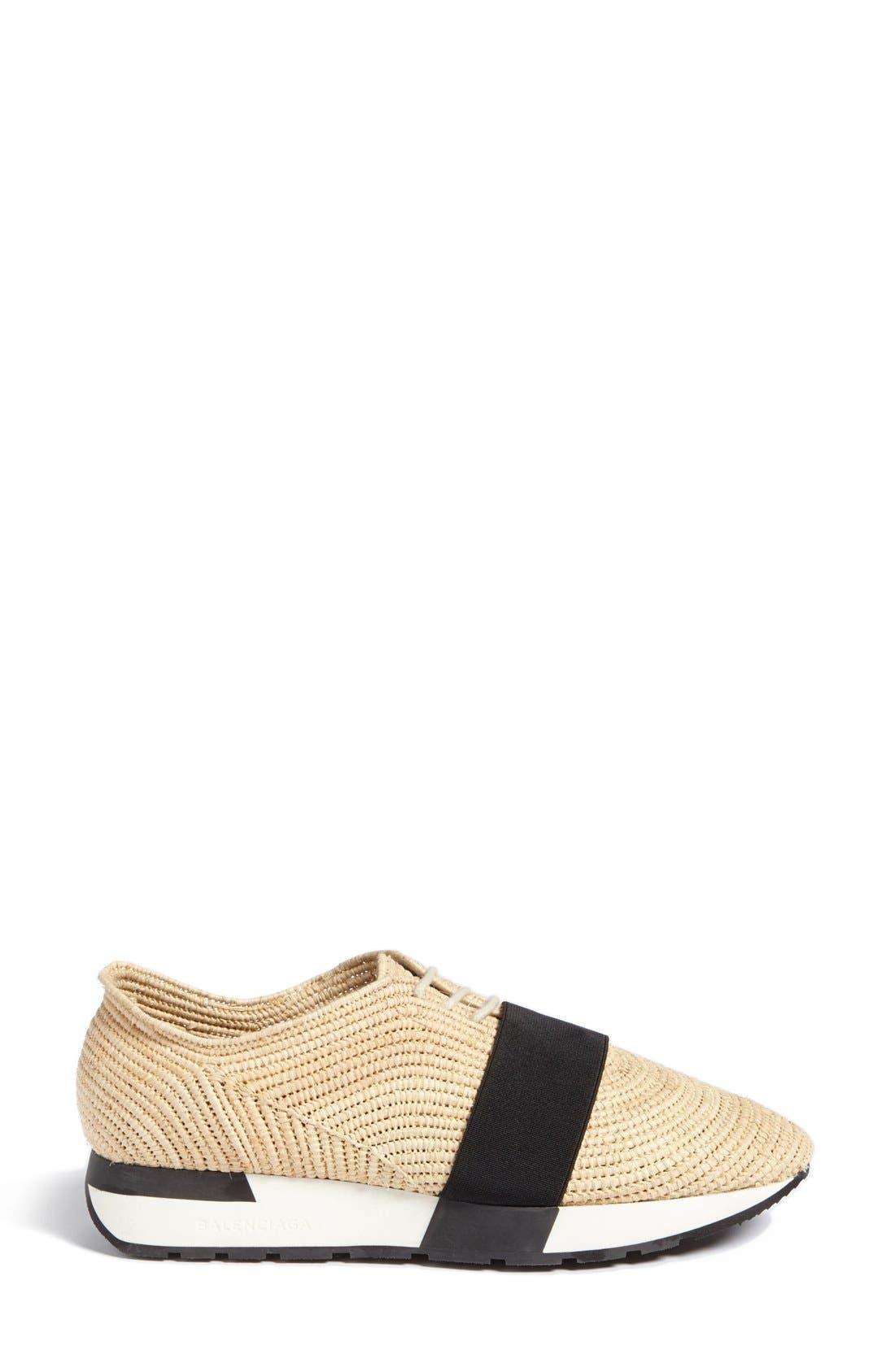 Alternate Image 2  - Balenciaga 'Runner' Raffia Sneaker (Women)
