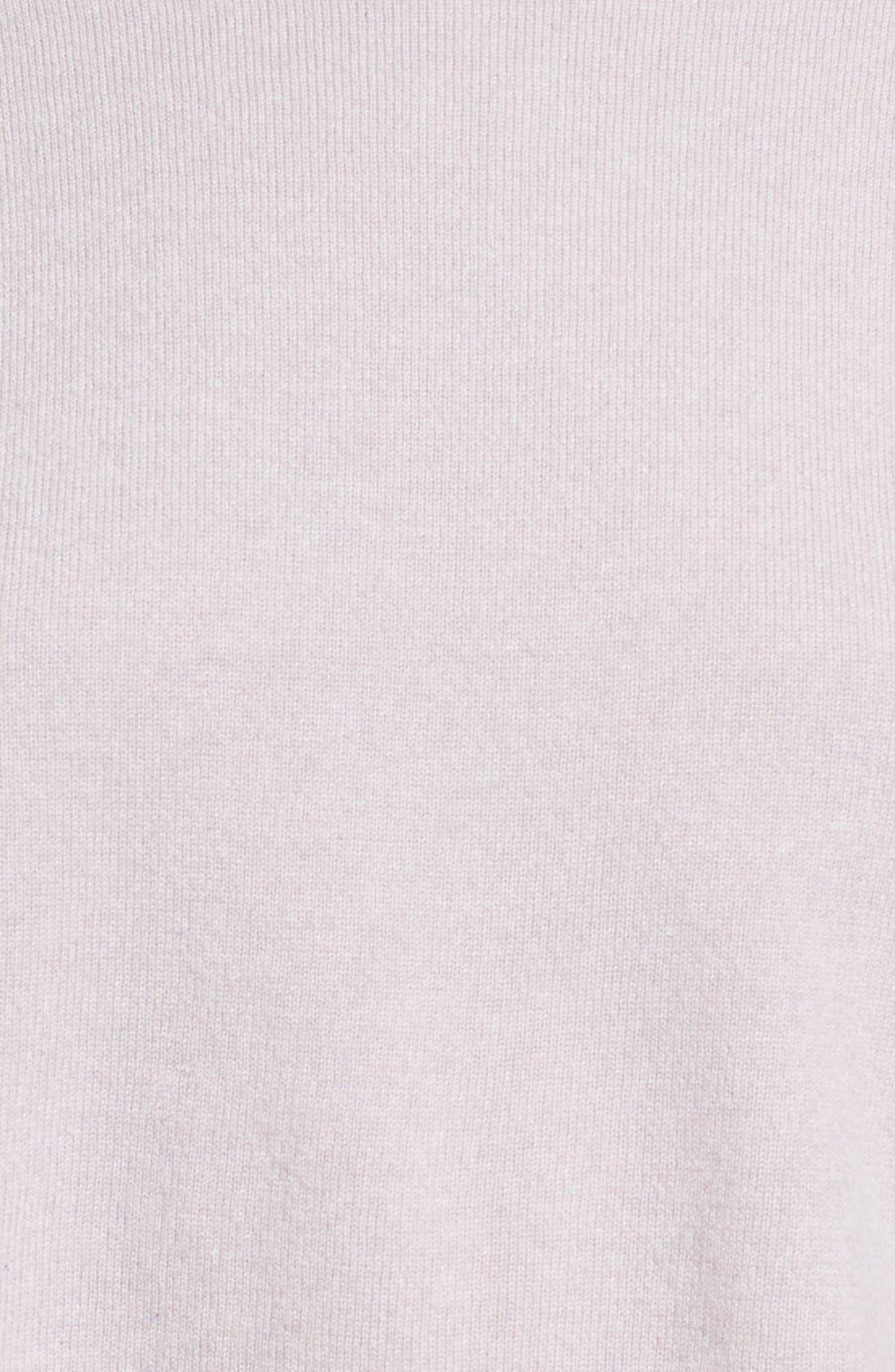 Alternate Image 3  - Fabiana Filippi Contrast Hem Cashmere & Stretch Silk Top