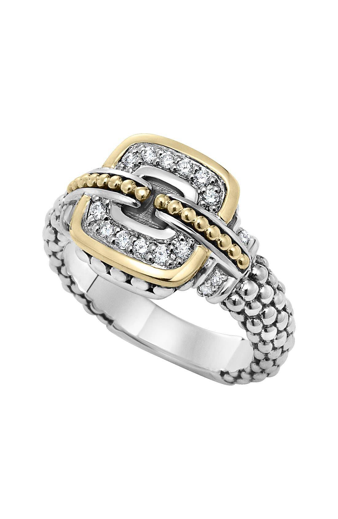 Alternate Image 1 Selected - LAGOS 'Cushion' Small Diamond Ring
