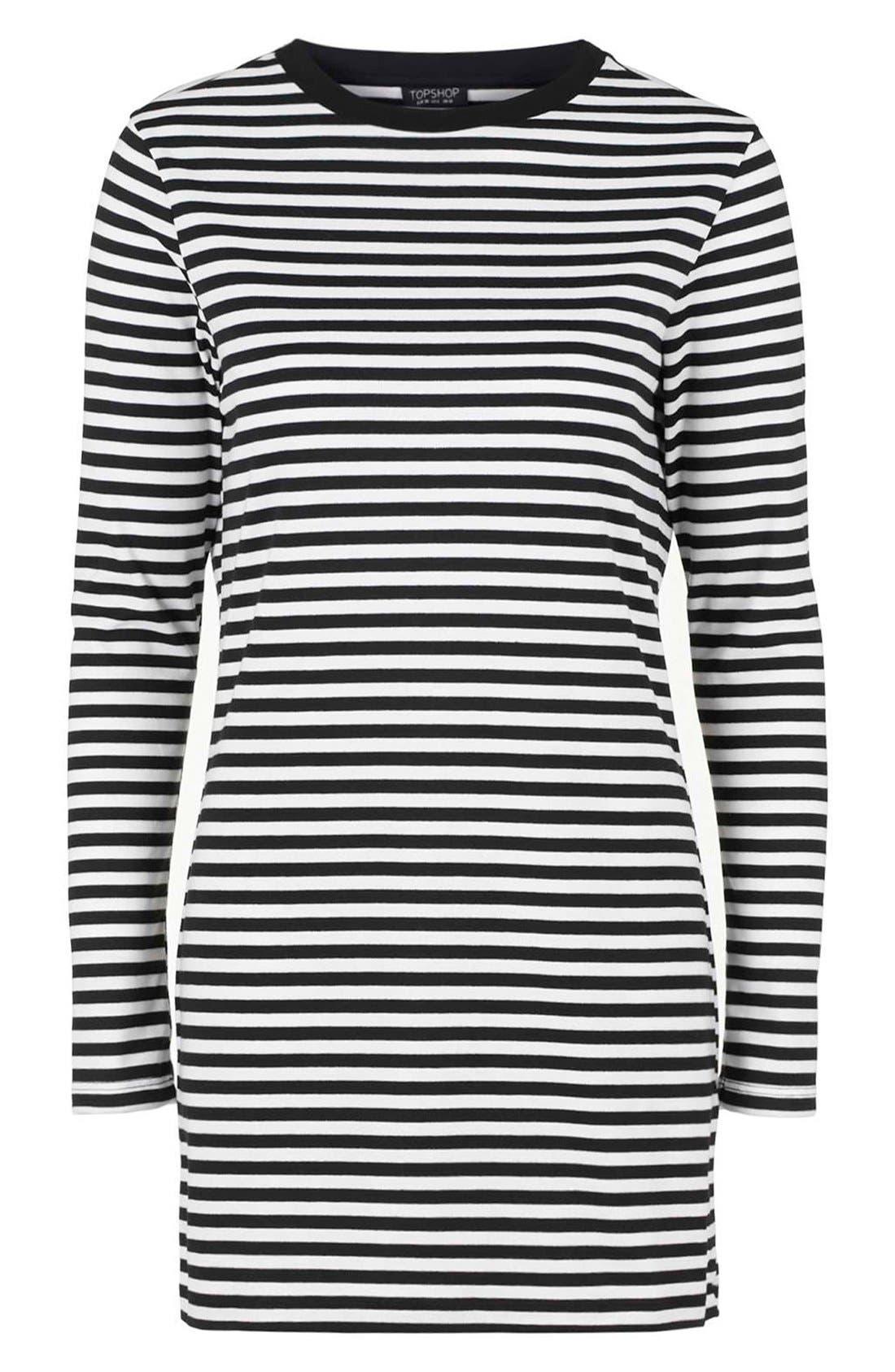 Alternate Image 4  - Topshop Stripe Long Sleeve Tunic Dress