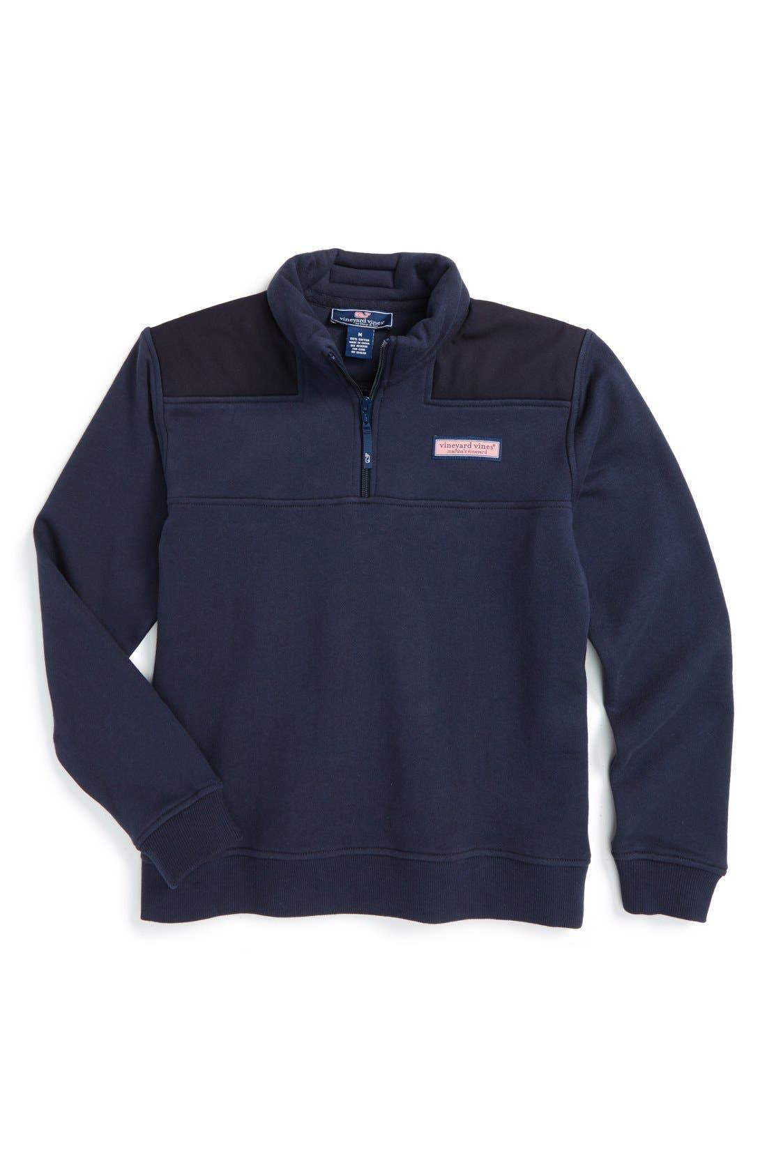 Vineyard Vines 'Shep' Quarter Zip Pullover Sweatshirt (Big Boys)