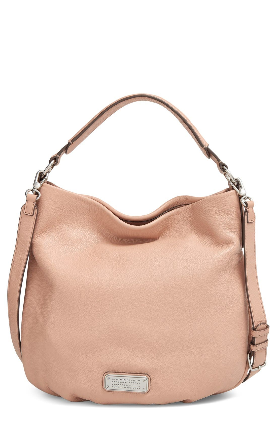 MARC BY MARC JACOBS 'New Q Hillier' Hobo,                         Main,                         color, Cameo Nude