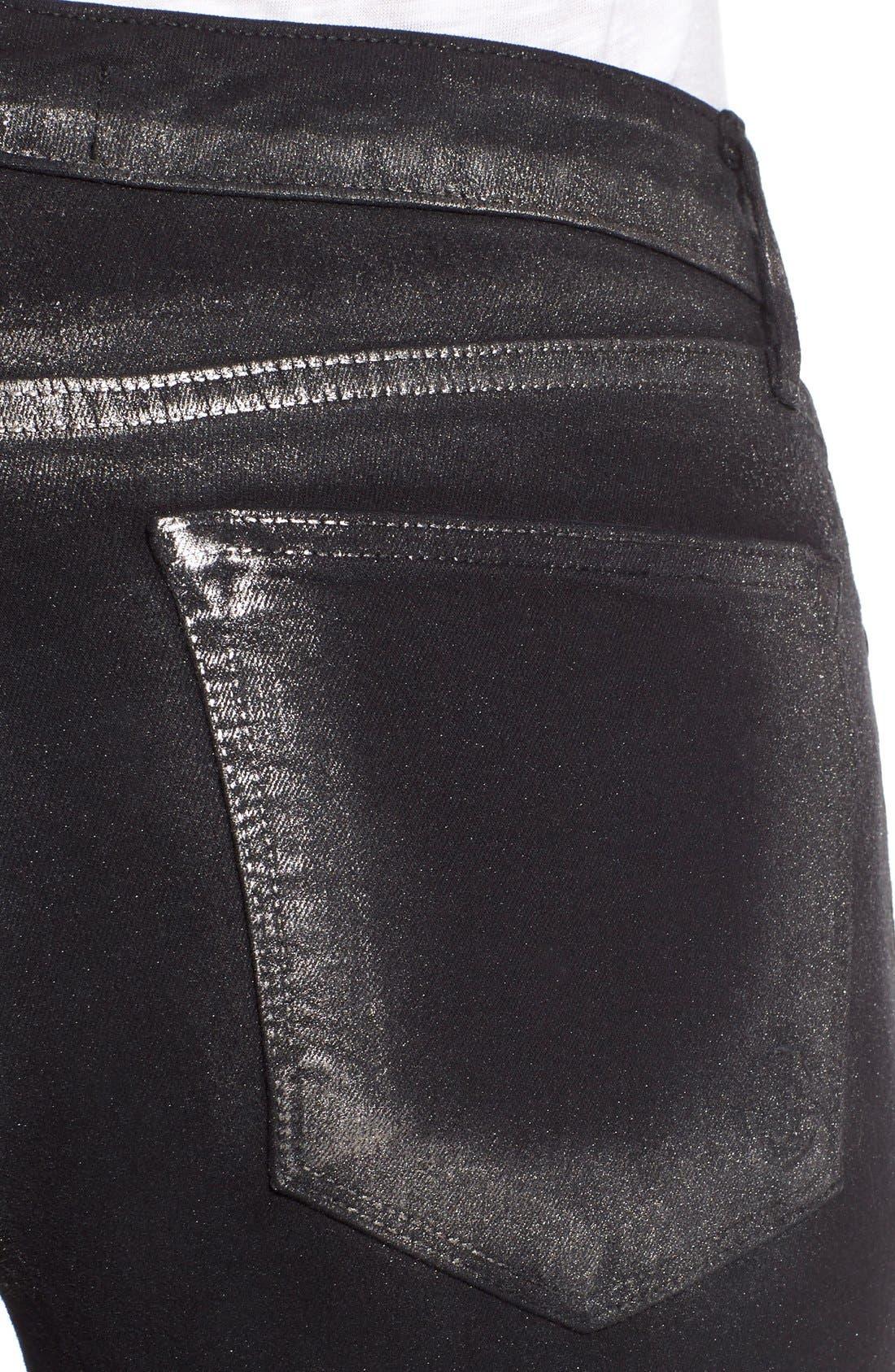 Alternate Image 4  - CJ by Cookie Johnson 'Wisdom' Brushed Foil Skinny Jeans (Pewter)