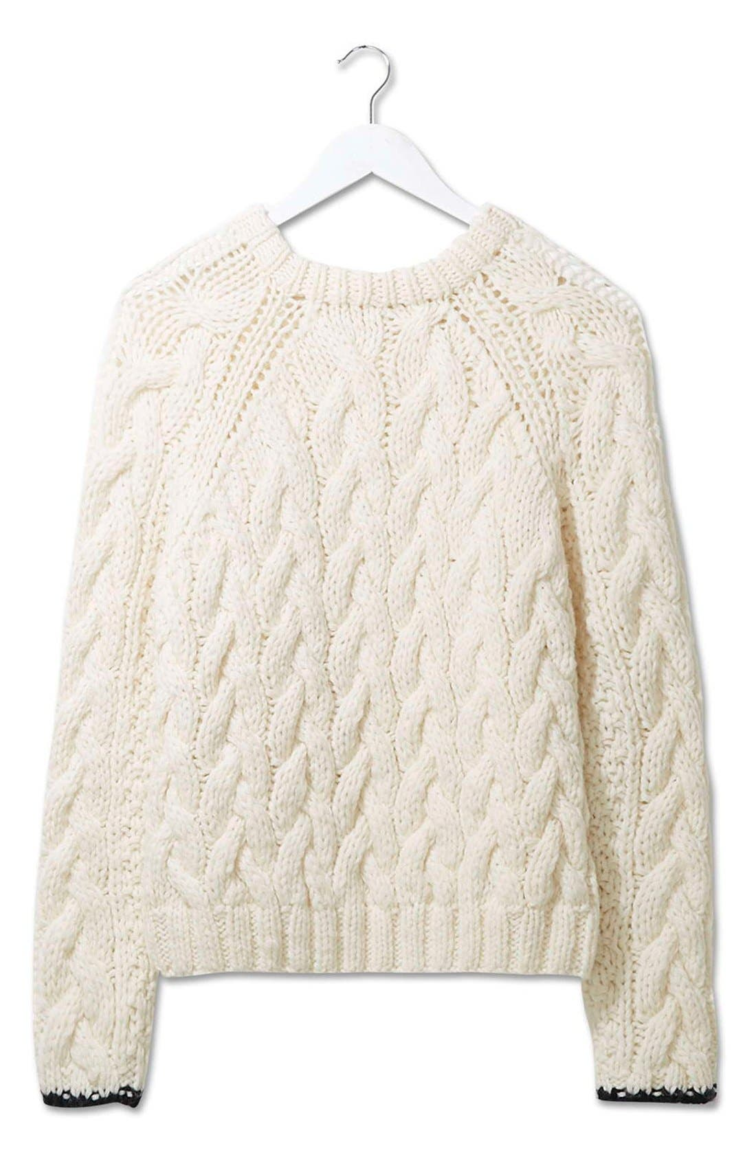 Alternate Image 3  - Topshop Boutique Chunky Cable Knit Sweater