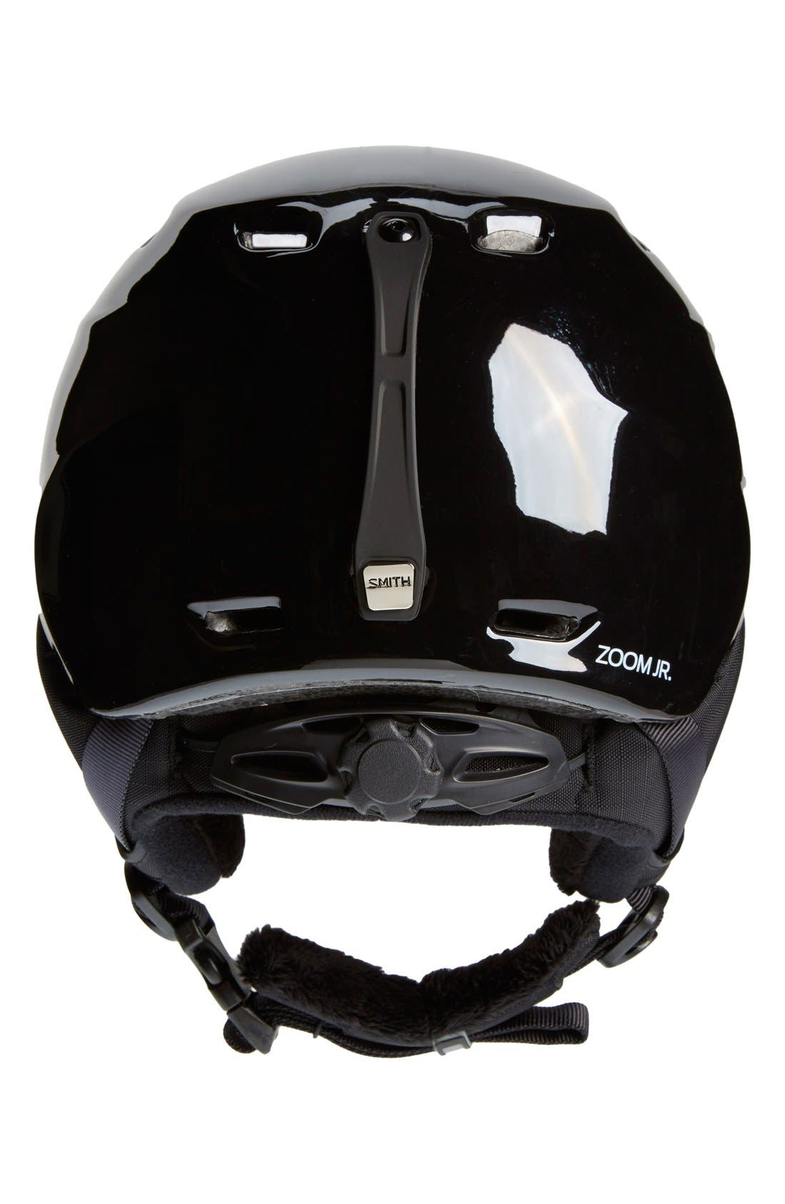 'Zoom Jr.' Snow Helmet,                             Alternate thumbnail 2, color,                             Black