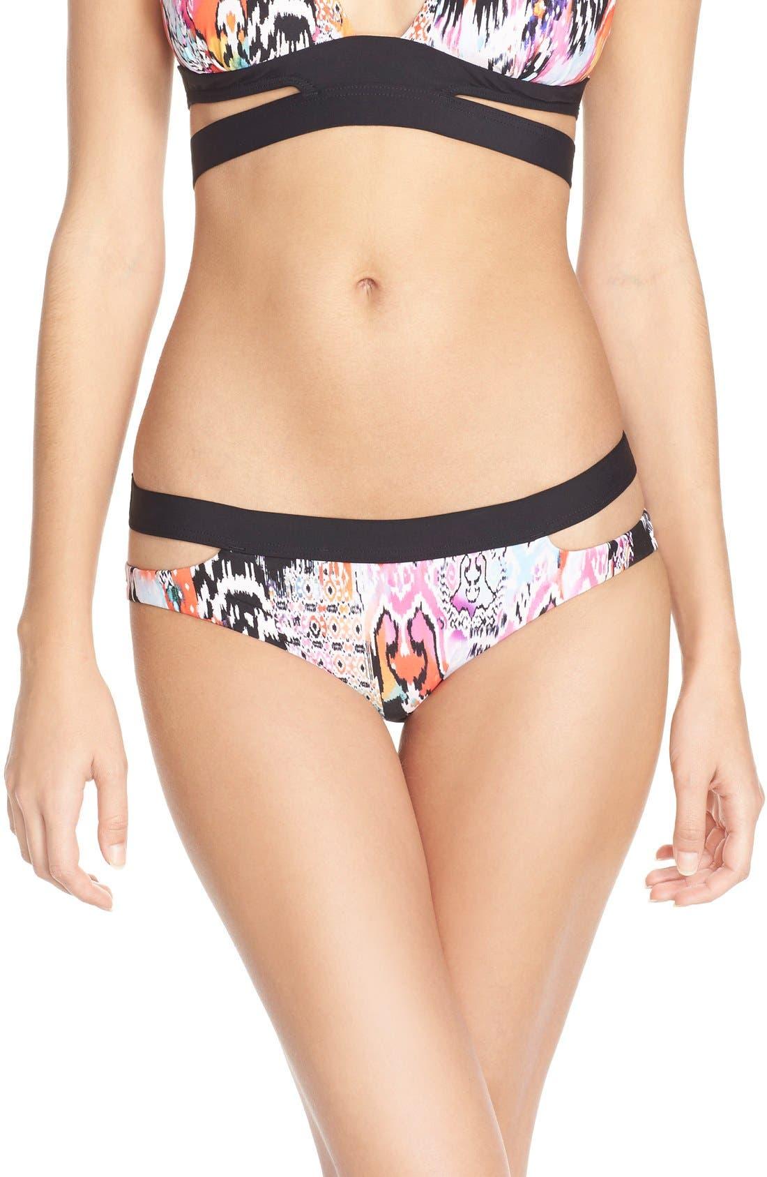 Alternate Image 1 Selected - Seafolly 'Beach' Split Band Hipster Bikini Bottoms