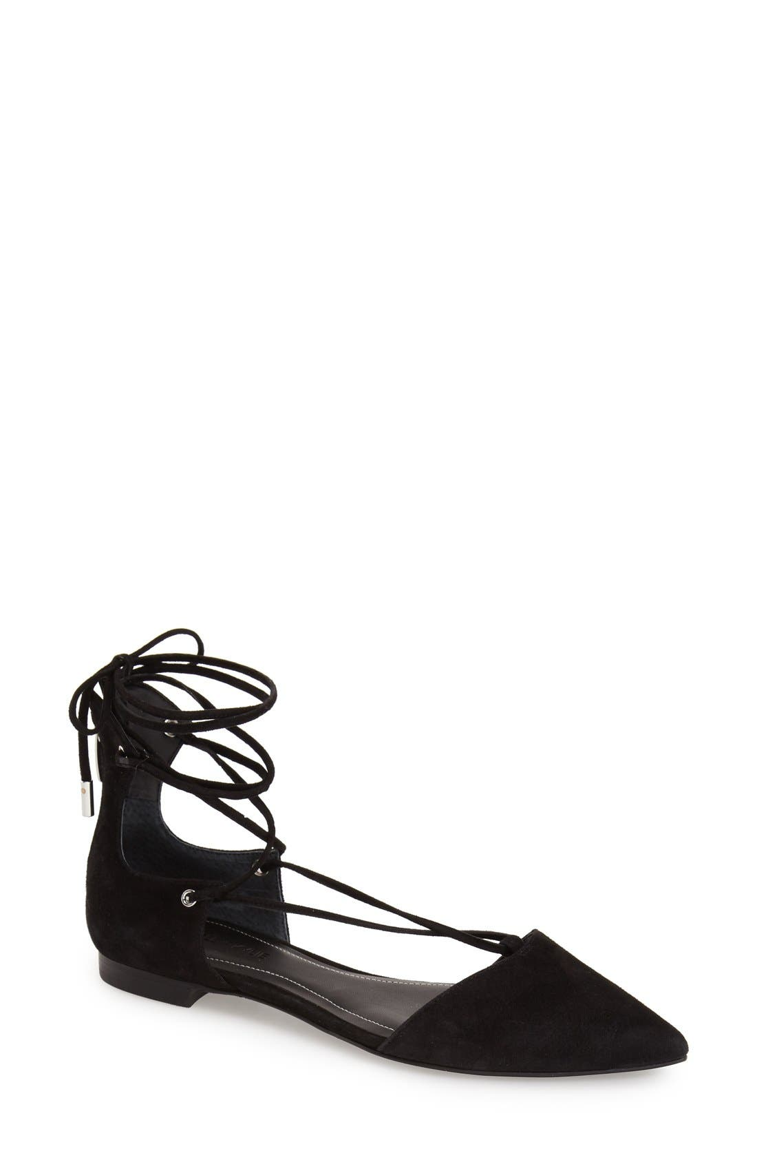 Main Image - KENDALL + KYLIE 'Sage' Pointy Toe Ghillie Flat (Women)