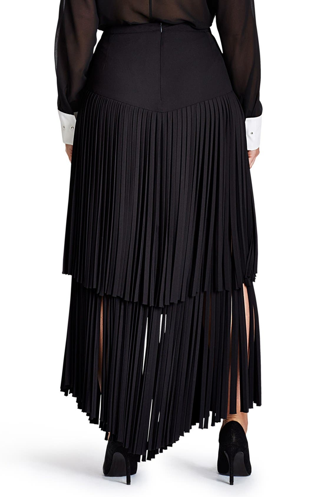 Alternate Image 2  - Mynt 1792 Fringe Maxi Skirt (Plus Size)