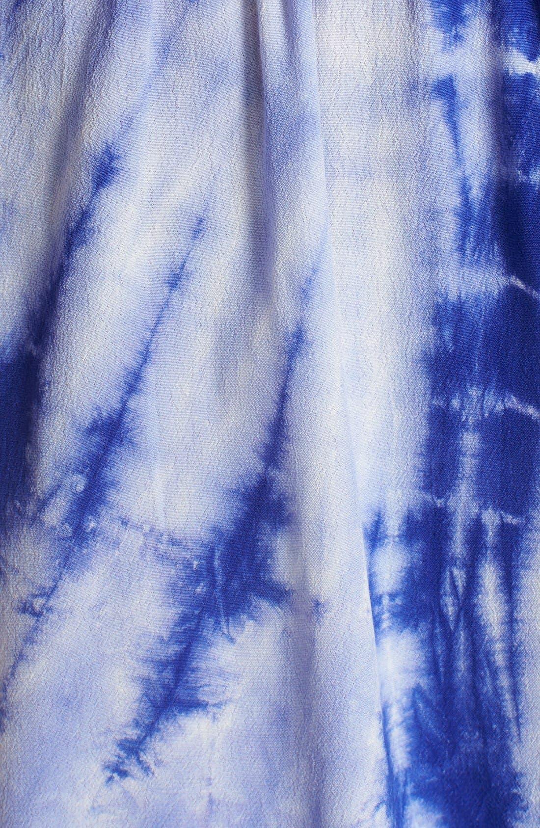 Alternate Image 5  - Fraiche by J Tie Dye Crepe Romper