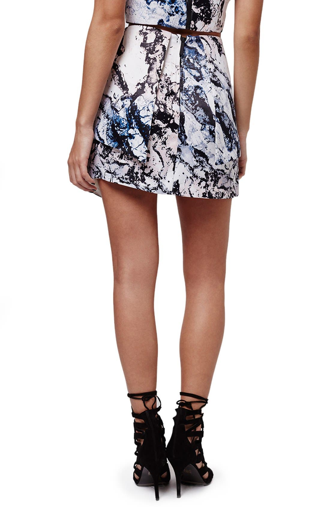 Alternate Image 3  - KENDALL + KYLIE at Topshop Print Structured Skirt