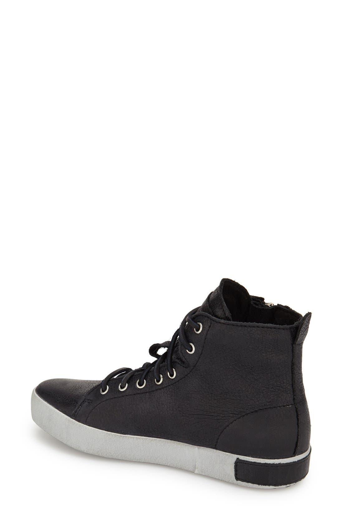 'KL57' High Top Sneaker,                             Alternate thumbnail 2, color,                             Caviar Black Leather