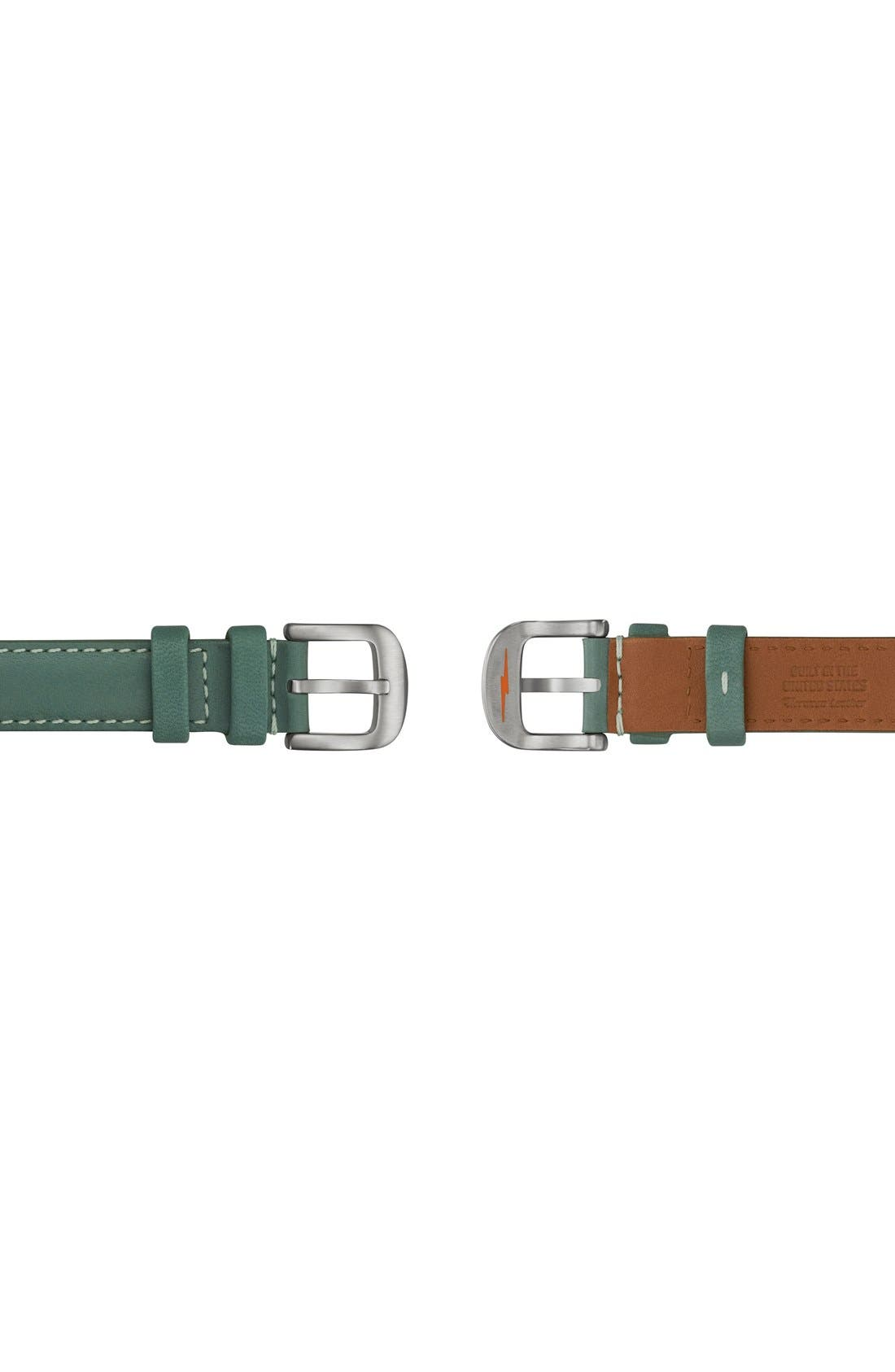Alternate Image 3  - Shinola The Gomelsky Square Leather Strap Watch, 36mm