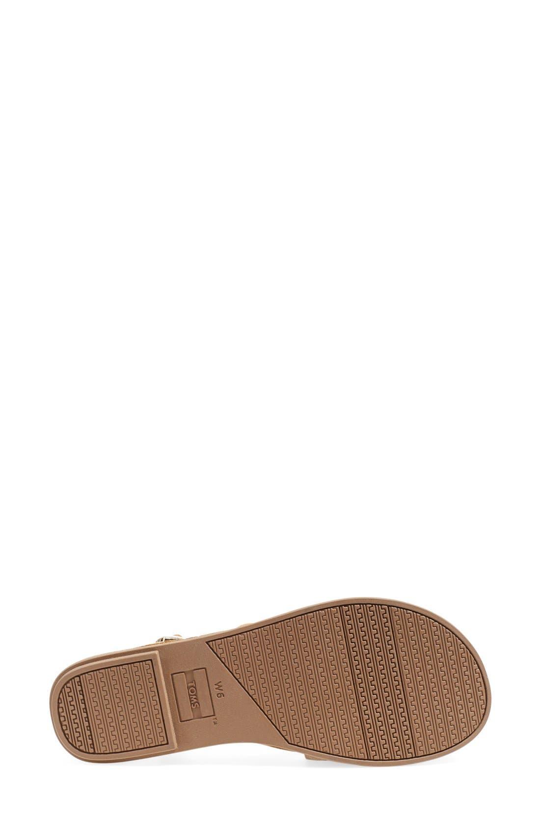 'Lexie' Sandal,                             Alternate thumbnail 4, color,                             Sandstorm Leather