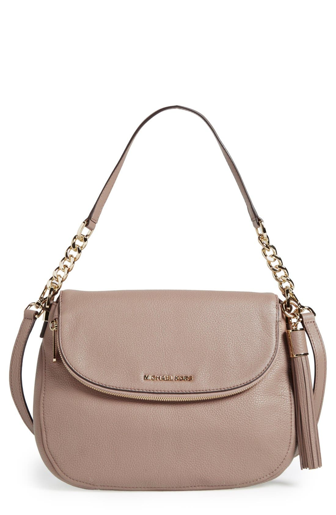 Main Image - MICHAEL Michael Kors 'Bedford Tassel - Medium' Convertible Leather Shoulder Bag (Nordstrom Exclusive)