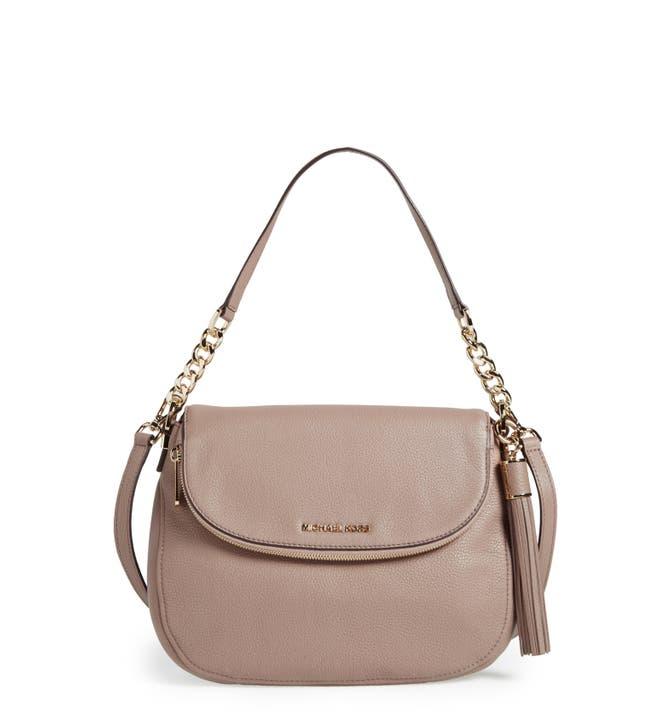 Main Image Michael Kors Bedford Tassel Medium Convertible Leather Shoulder Bag