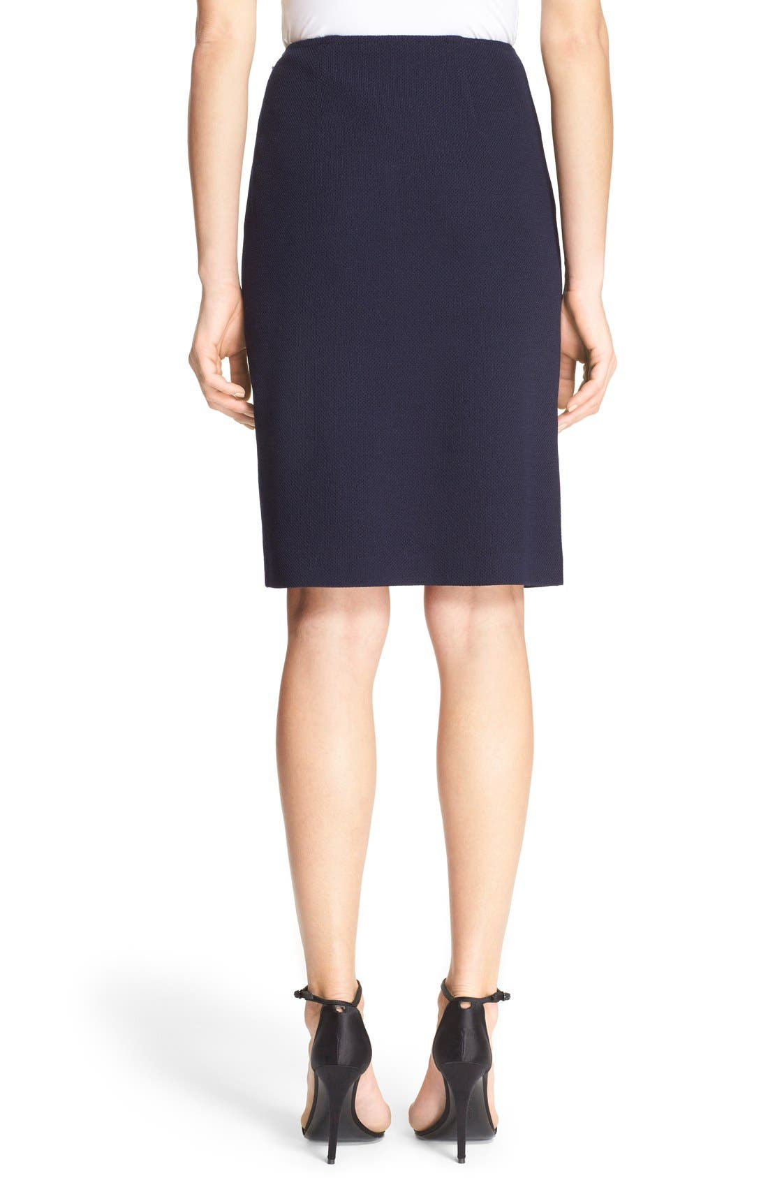 Alternate Image 2  - St. John Collection Milano Piqué Knit Pencil Skirt