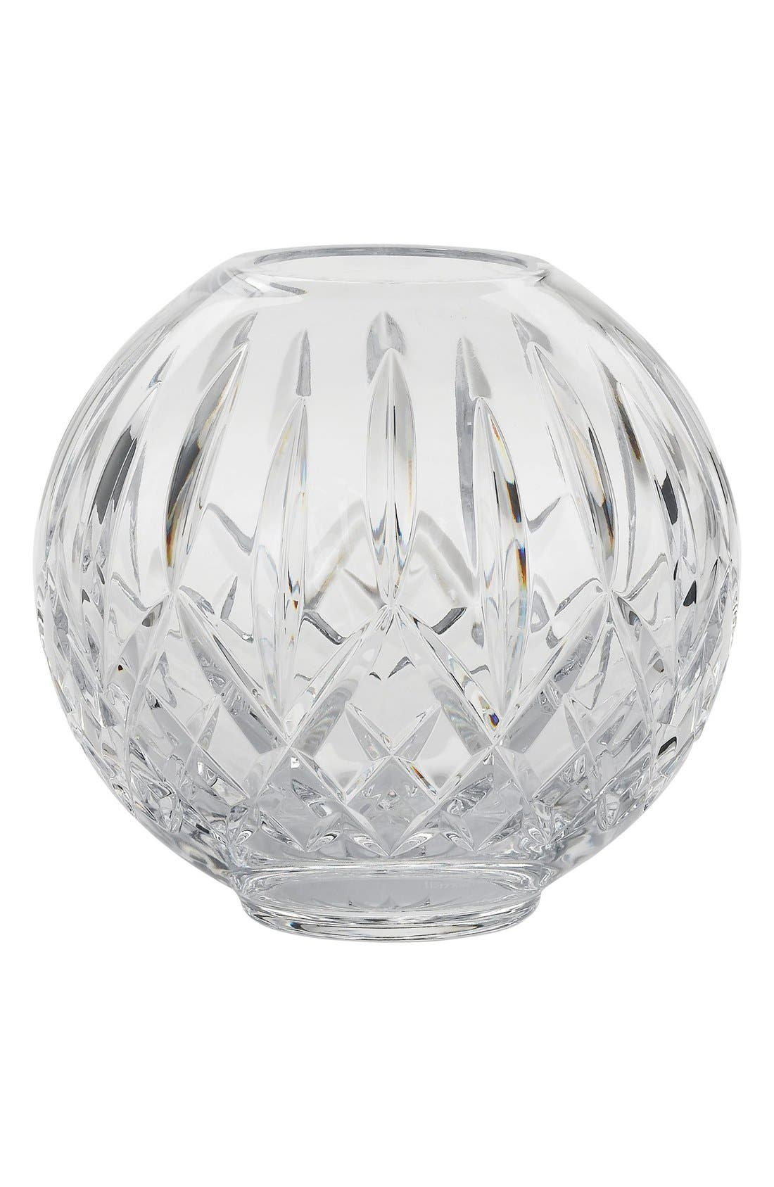 'Lismore' Lead Crystal Rose Bowl,                         Main,                         color, Clear