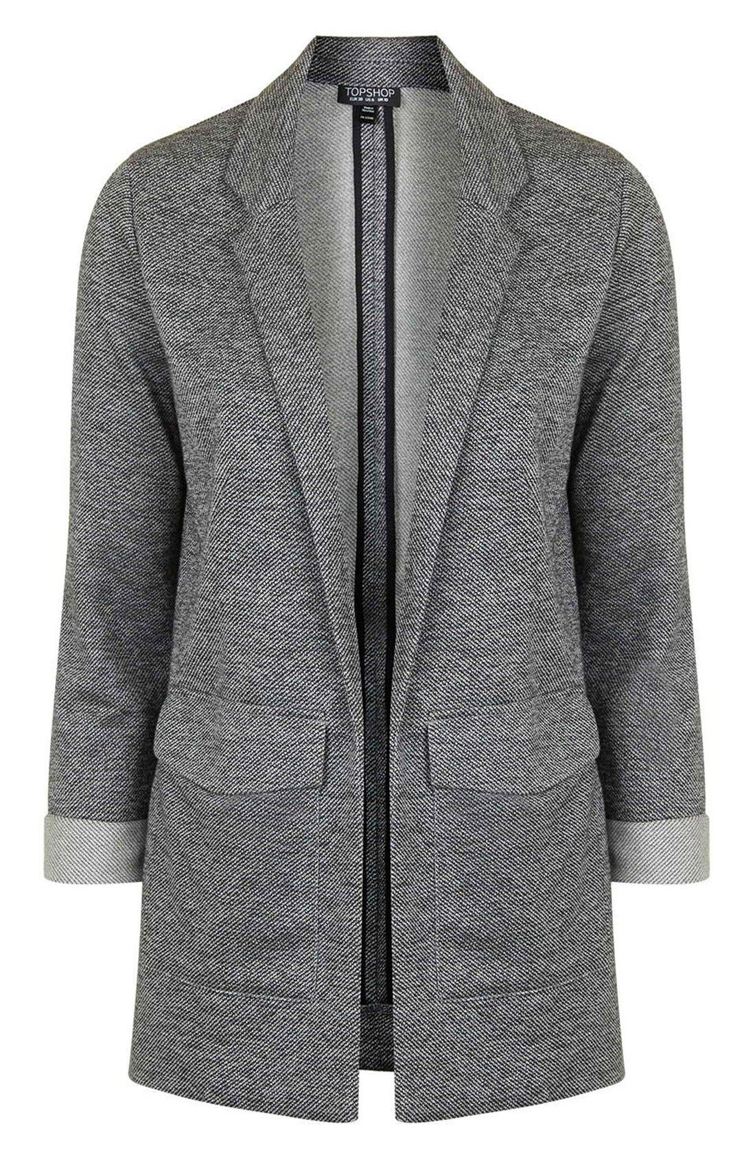 Alternate Image 4  - Topshop Twill Jersey Boyfriend Jacket