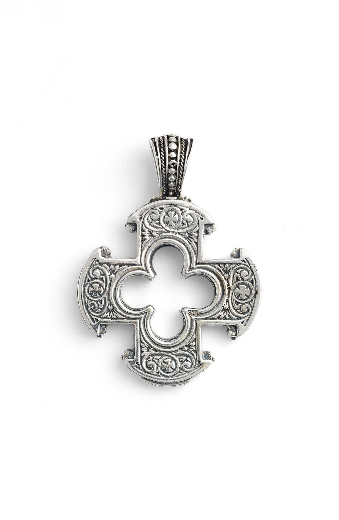 Silver Classics Cutout Cross Pendant,                             Alternate thumbnail 2, color,                             Silver