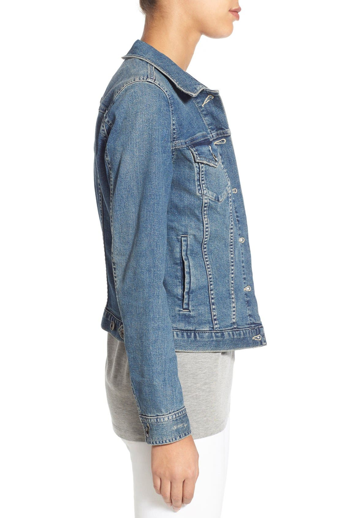 Alternate Image 4  - Two by Vince Camuto Jean Jacket (Regular & Petite)