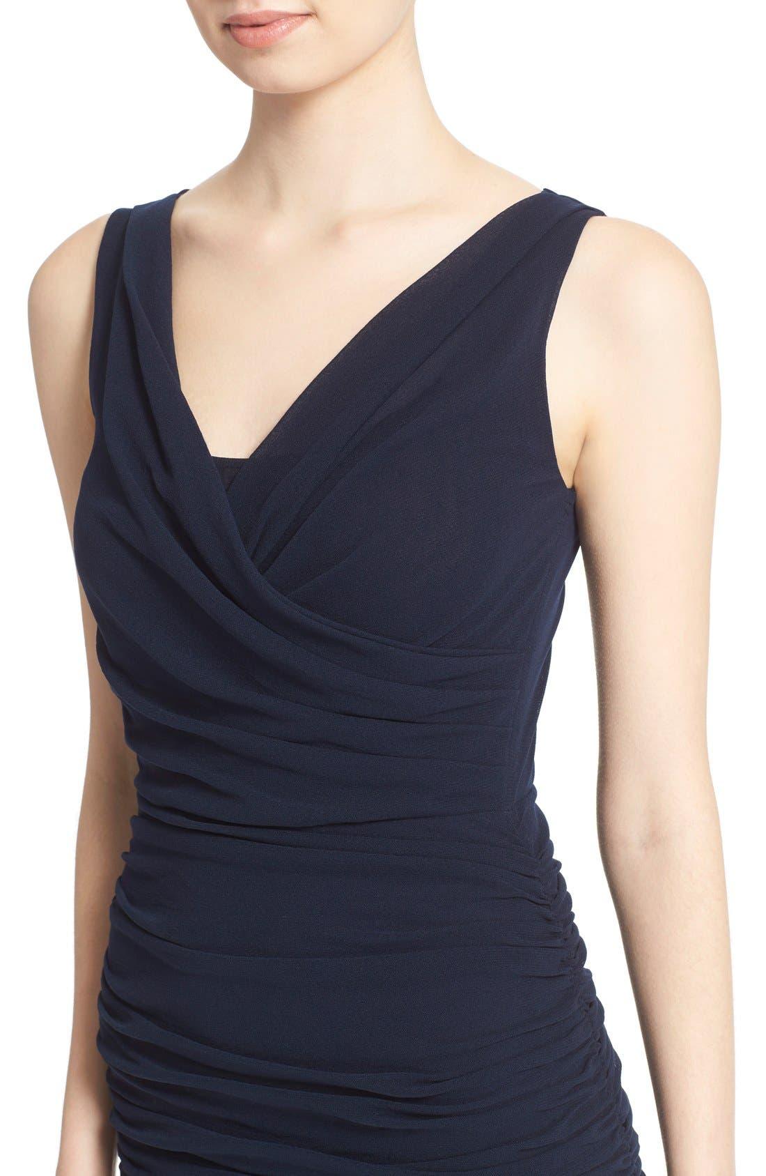 Alternate Image 6  - Fuzzi Ruched Tulle Mesh Dress