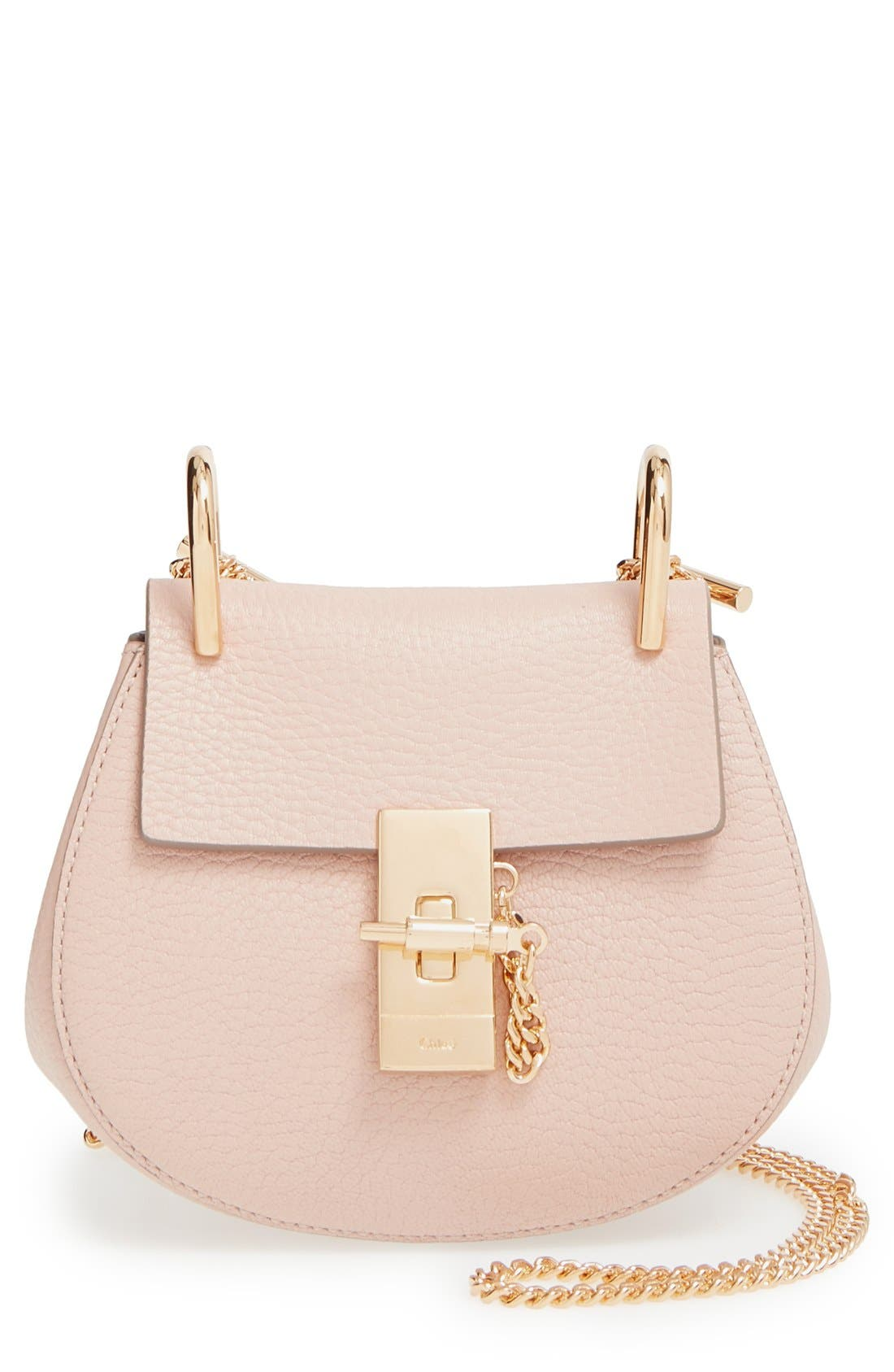 Main Image - Chloé 'Nano Drew' Lambskin Leather Shoulder Bag