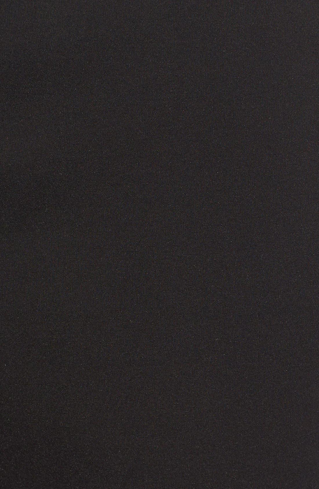 Alternate Image 5  - Via Spiga Lambskin Leather & Knit Zip Front Collarless Jacket
