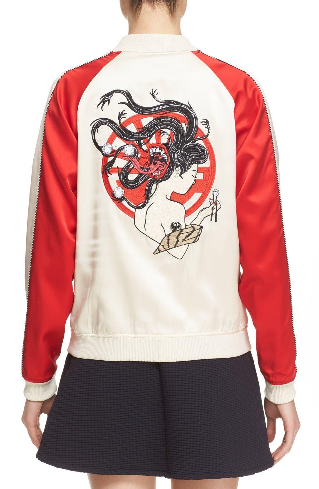 Alternate Image 2  - Opening Ceremony 'Yokai' Embroidered Reversible Bomber Jacket