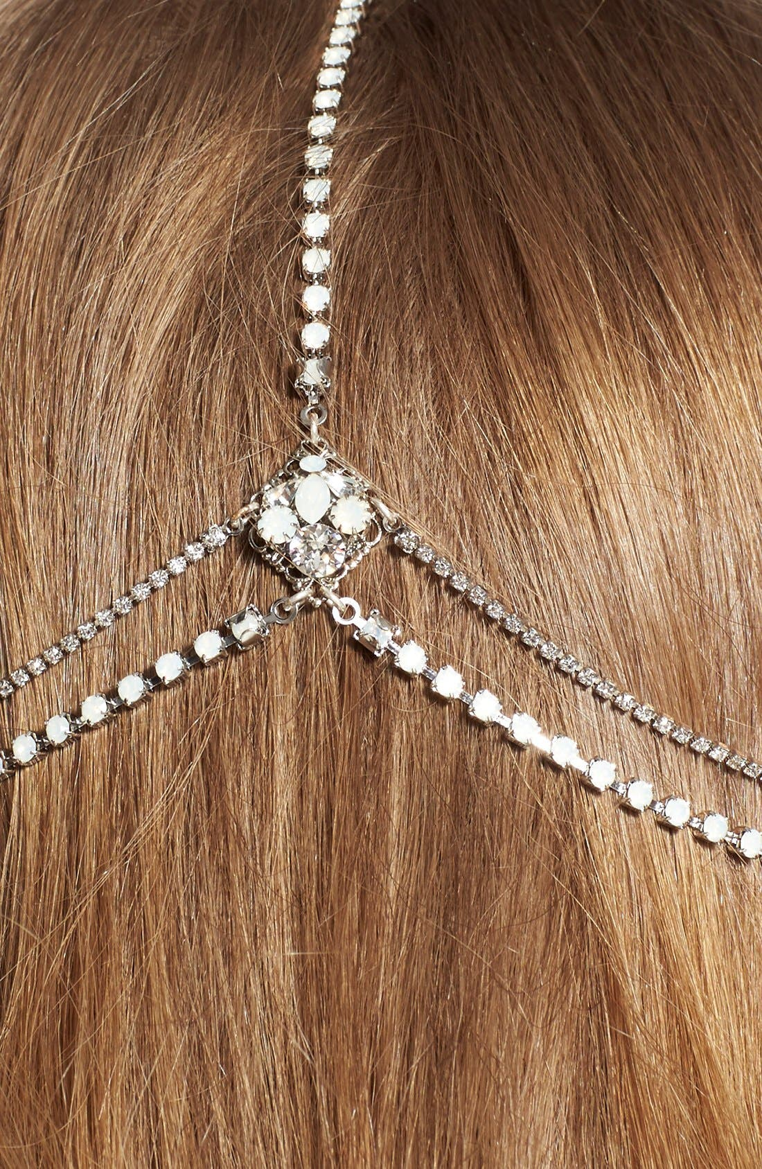 'Lindsay' Embellished Hair Chain,                             Alternate thumbnail 6, color,                             Opal