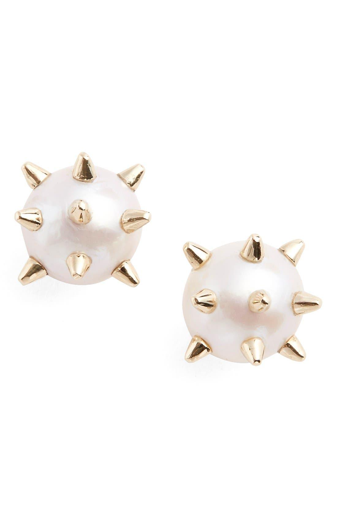 Alternate Image 1 Selected - Nektar de Stagni 'New Classics' Spike Cultured Pearl Earrings