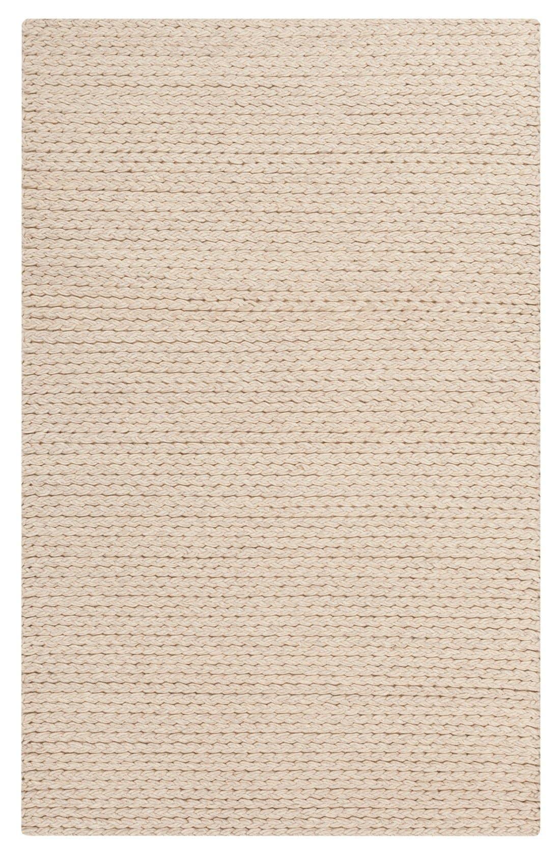 'Yukon' Hand Woven Wool Rug,                         Main,                         color, Beige