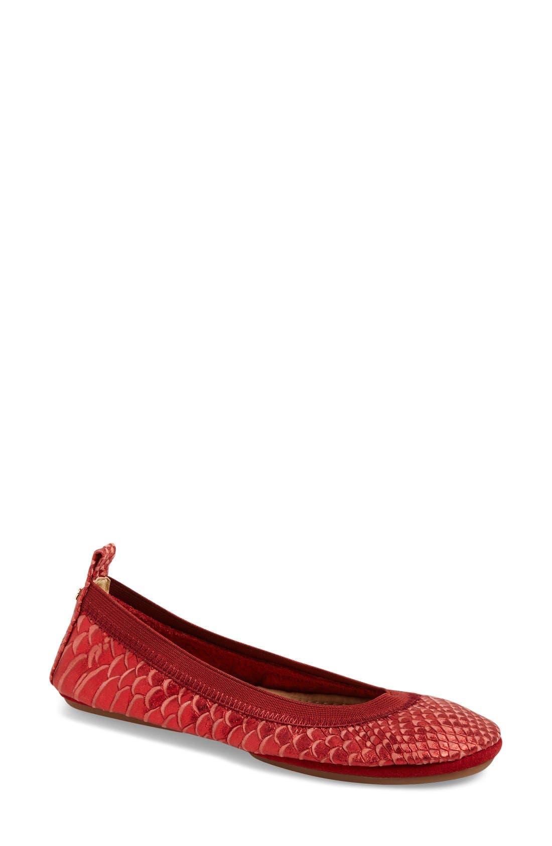 Yosi Samra 'Samara' Foldable Ballet Flat (Women)