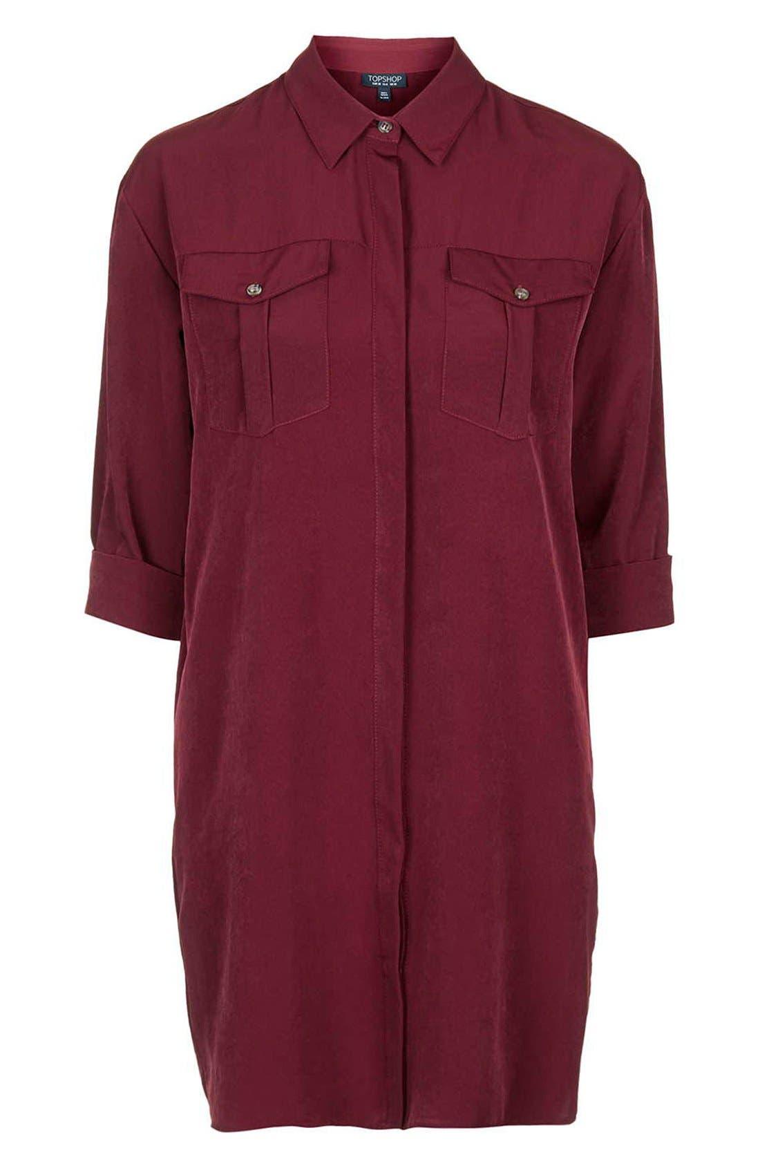 Alternate Image 4  - Topshop Oversize Shirtdress