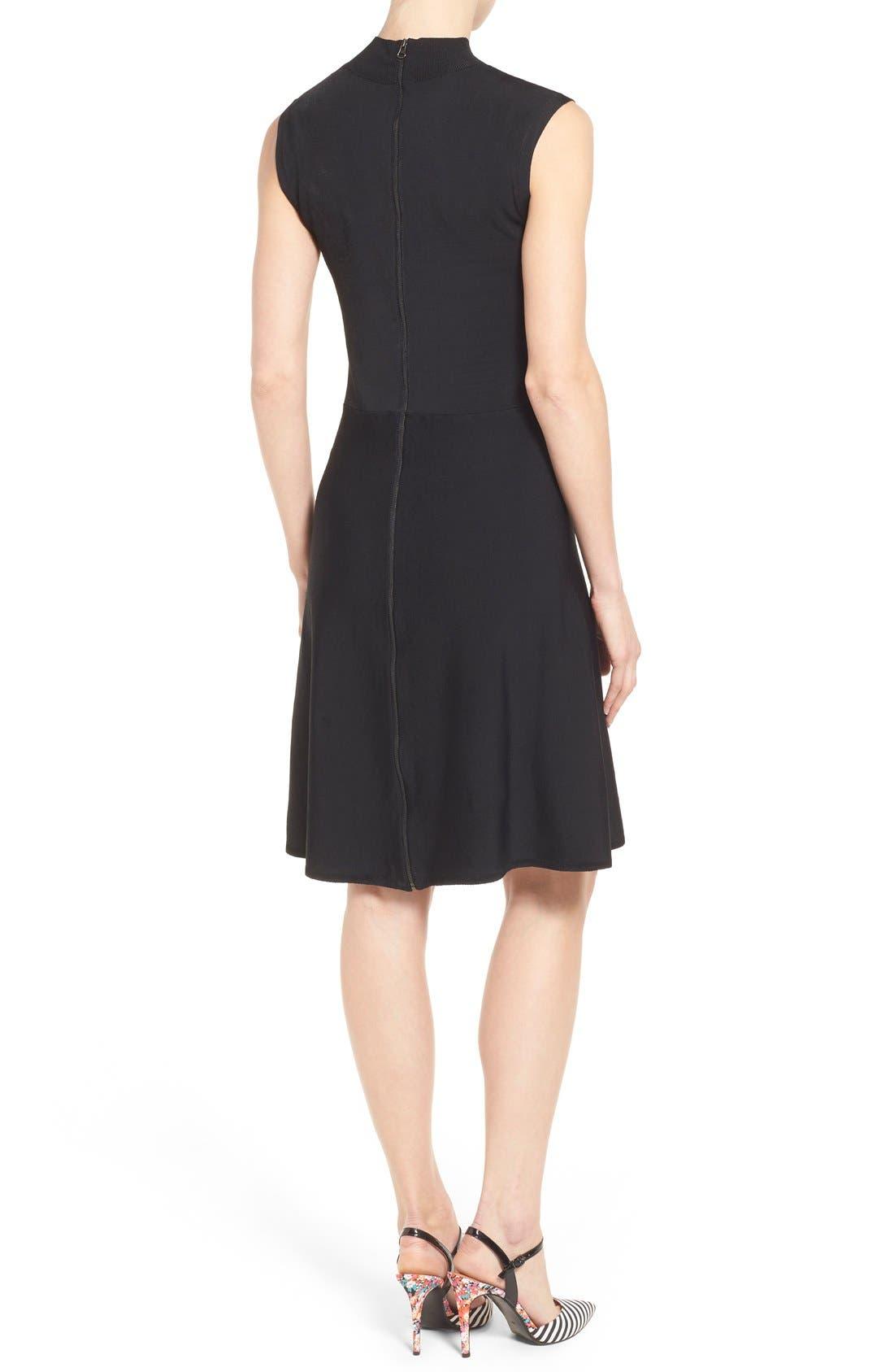 Alternate Image 2  - Halogen® Mock Neck A-Line Dress (Regular & Petite)