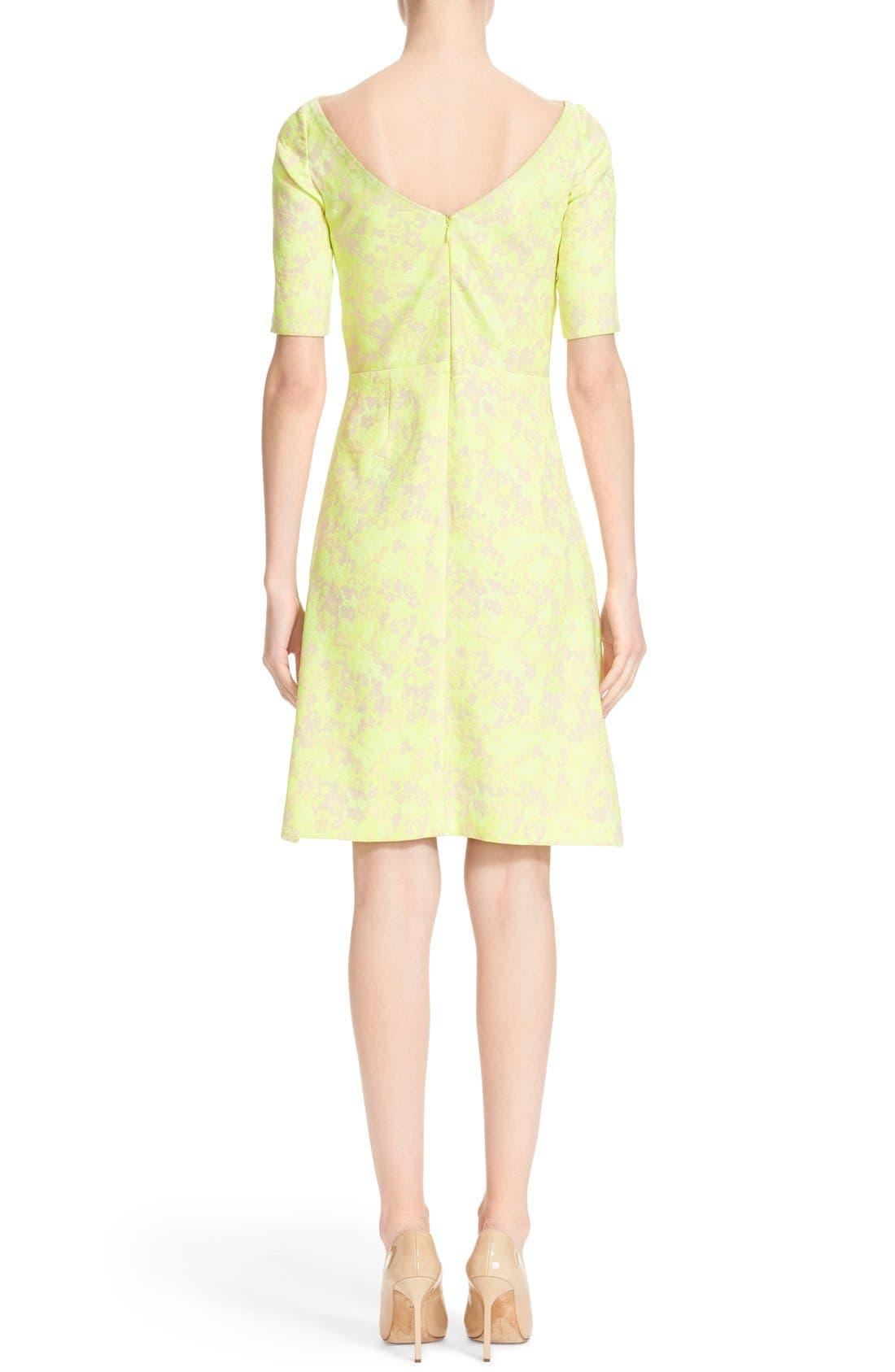 Alternate Image 2  - Lela Rose Floral Jacquard Sheath Dress