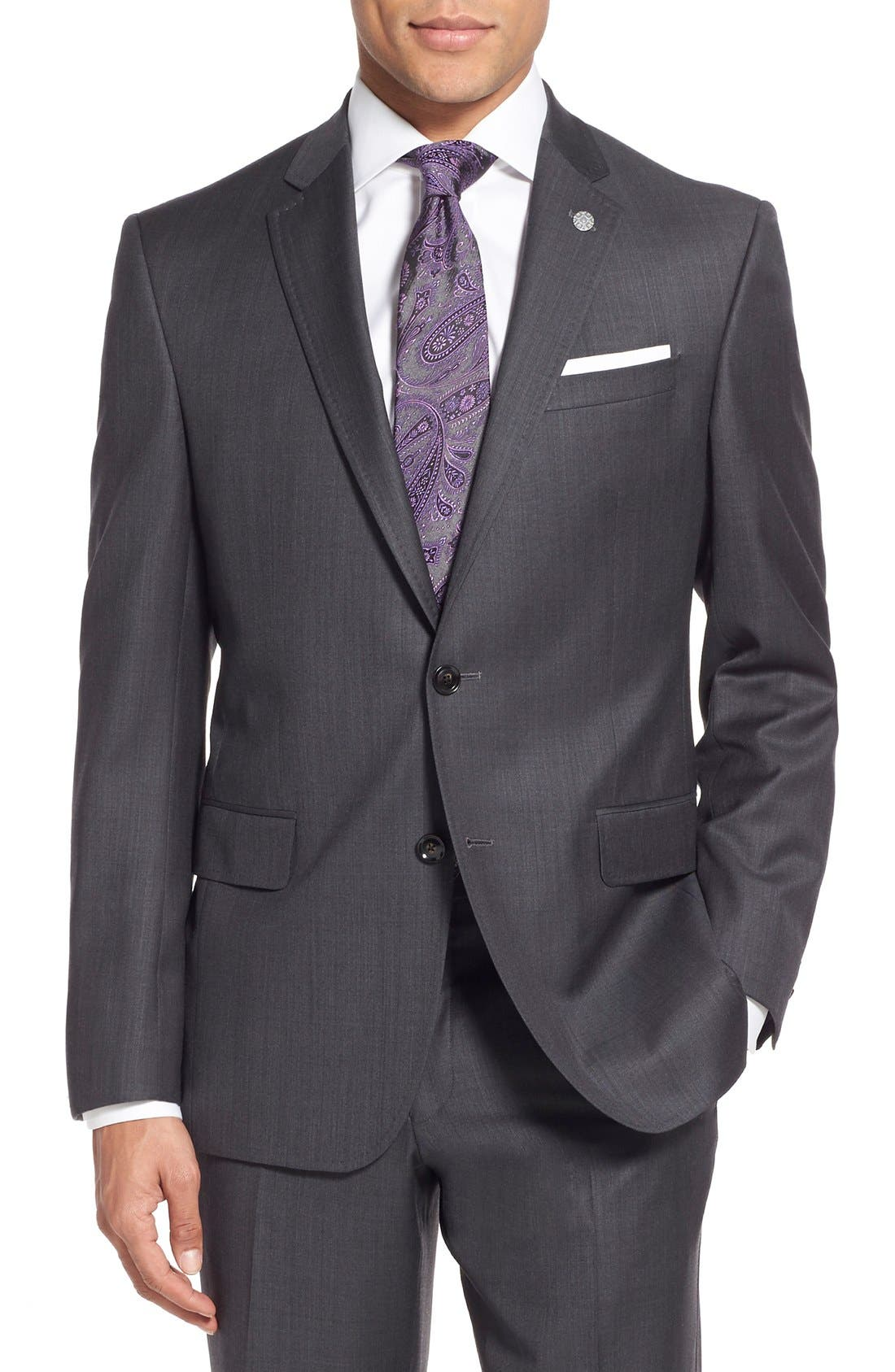 Alternate Image 6  - Ted Baker London 'Jay' Trim Fit Solid Wool Suit