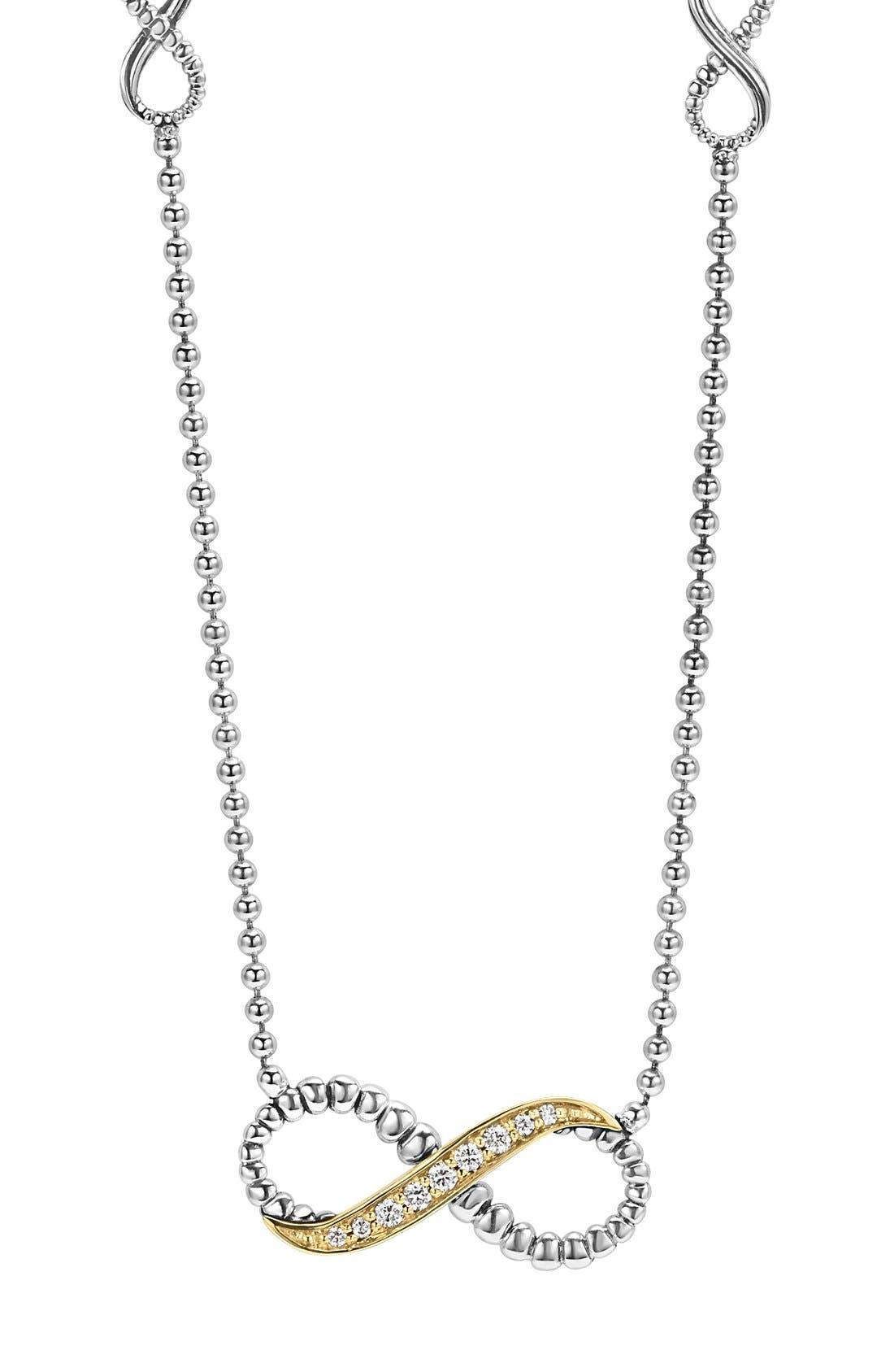 LAGOS 'Beloved' Diamond Infinity Pendant Necklace