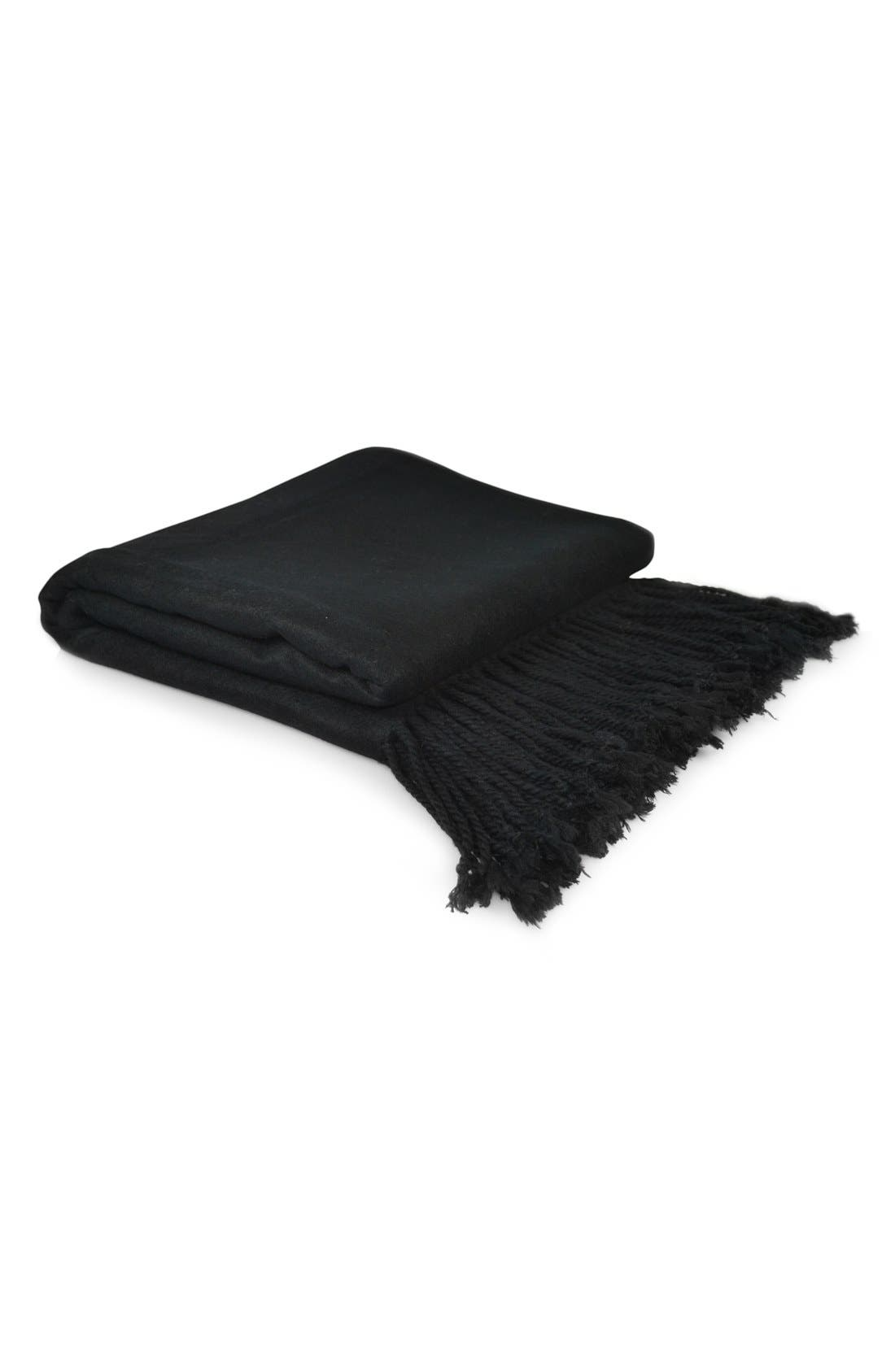 Main Image - Indigo 7 Fringe Velvet Throw