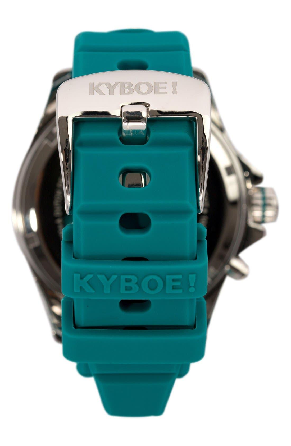 Silicone Strap Watch, 48mm,                             Alternate thumbnail 2, color,                             Tile Blue/ Tile Blue