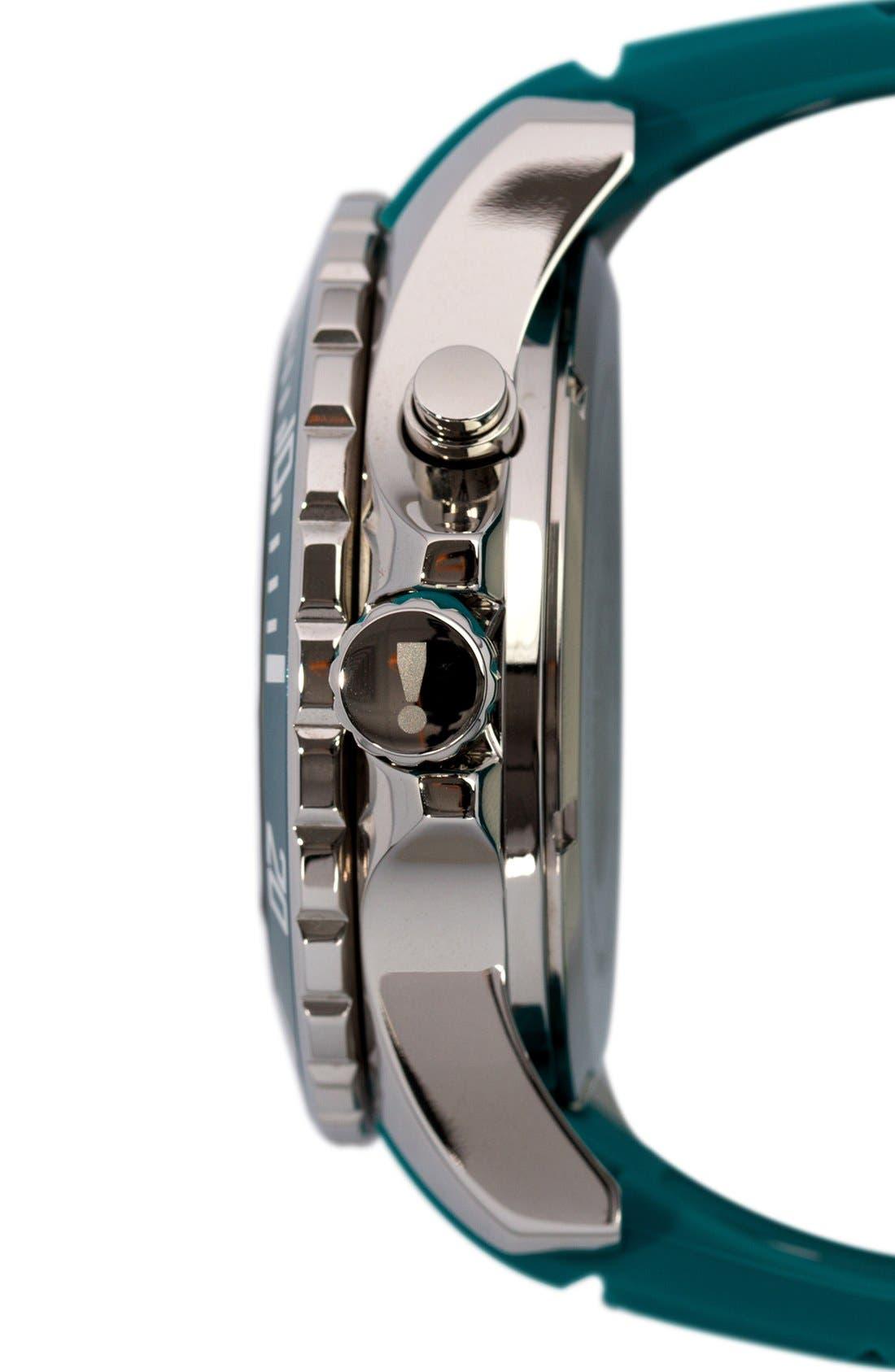Silicone Strap Watch, 48mm,                             Alternate thumbnail 3, color,                             Tile Blue/ Tile Blue