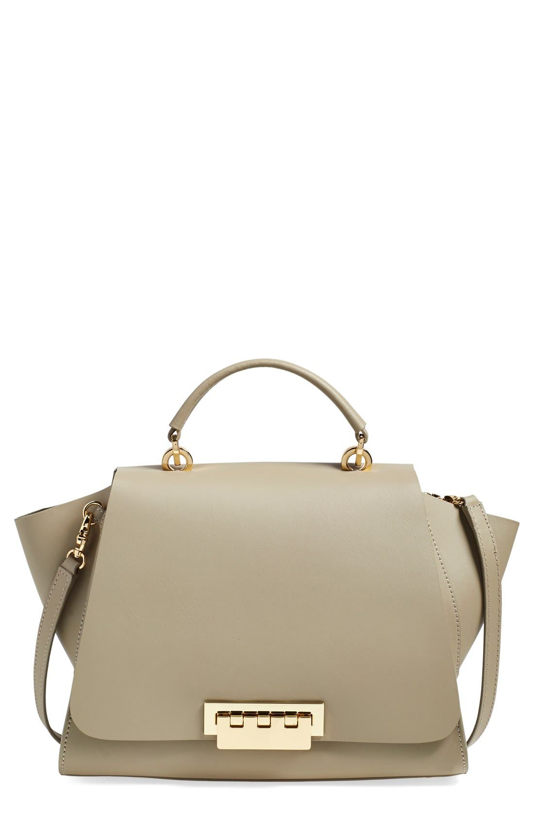 'Eartha' Soft Top Handle Satchel,                             Main thumbnail 1, color,                             Beige