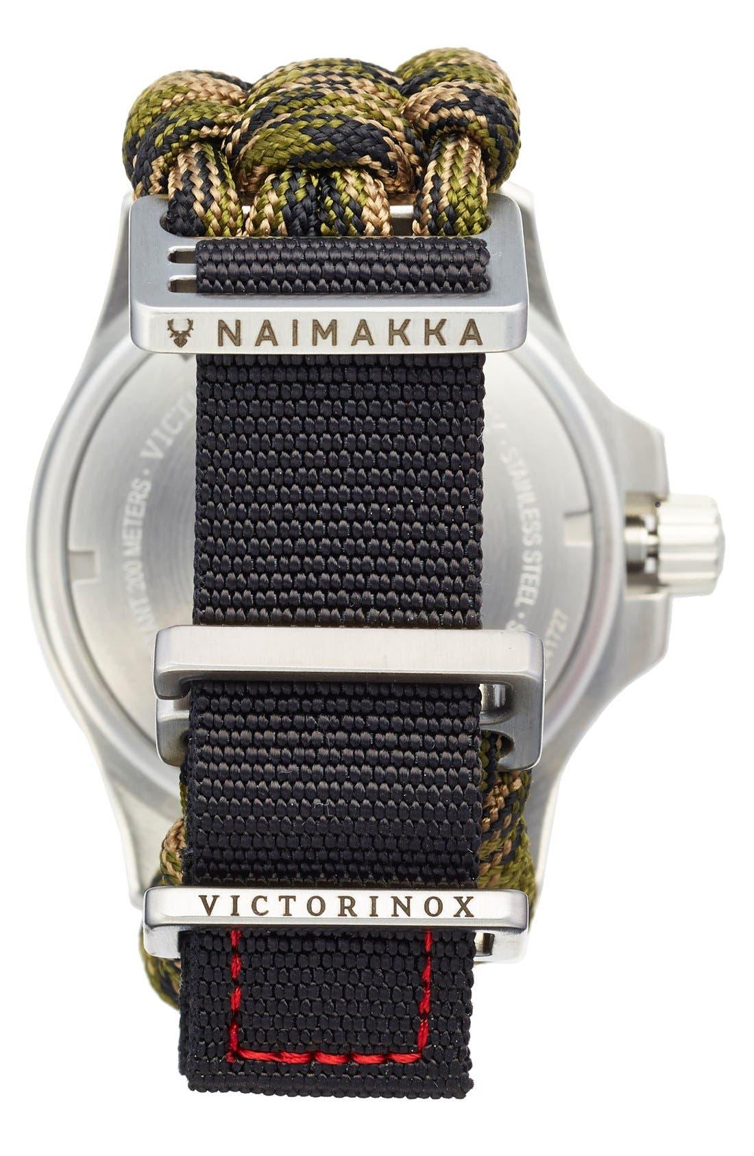 Alternate Image 2  - Victorinox Swiss Army® 'I.N.O.X.' Paracord Strap Watch, 43mm