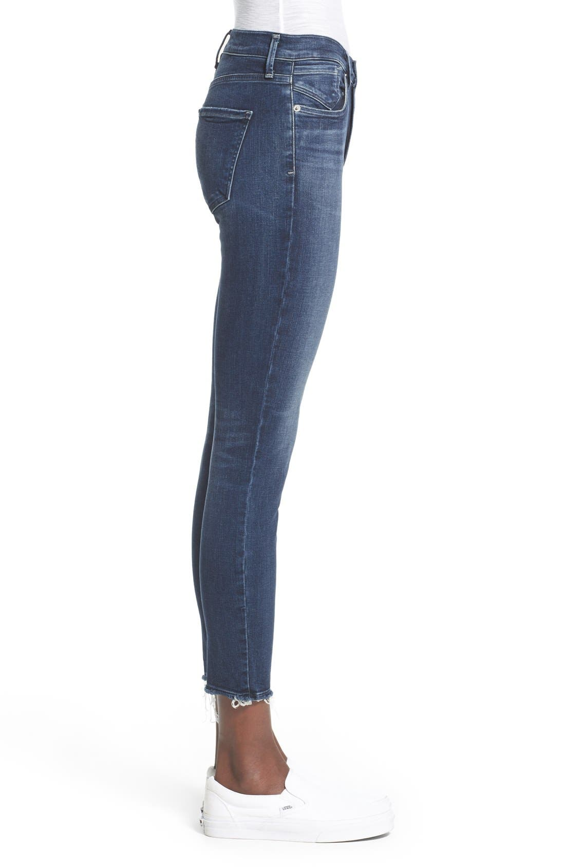A Gold E 'Sophie' Crop Jeans,                             Alternate thumbnail 3, color,                             Claremont (Med Wash)